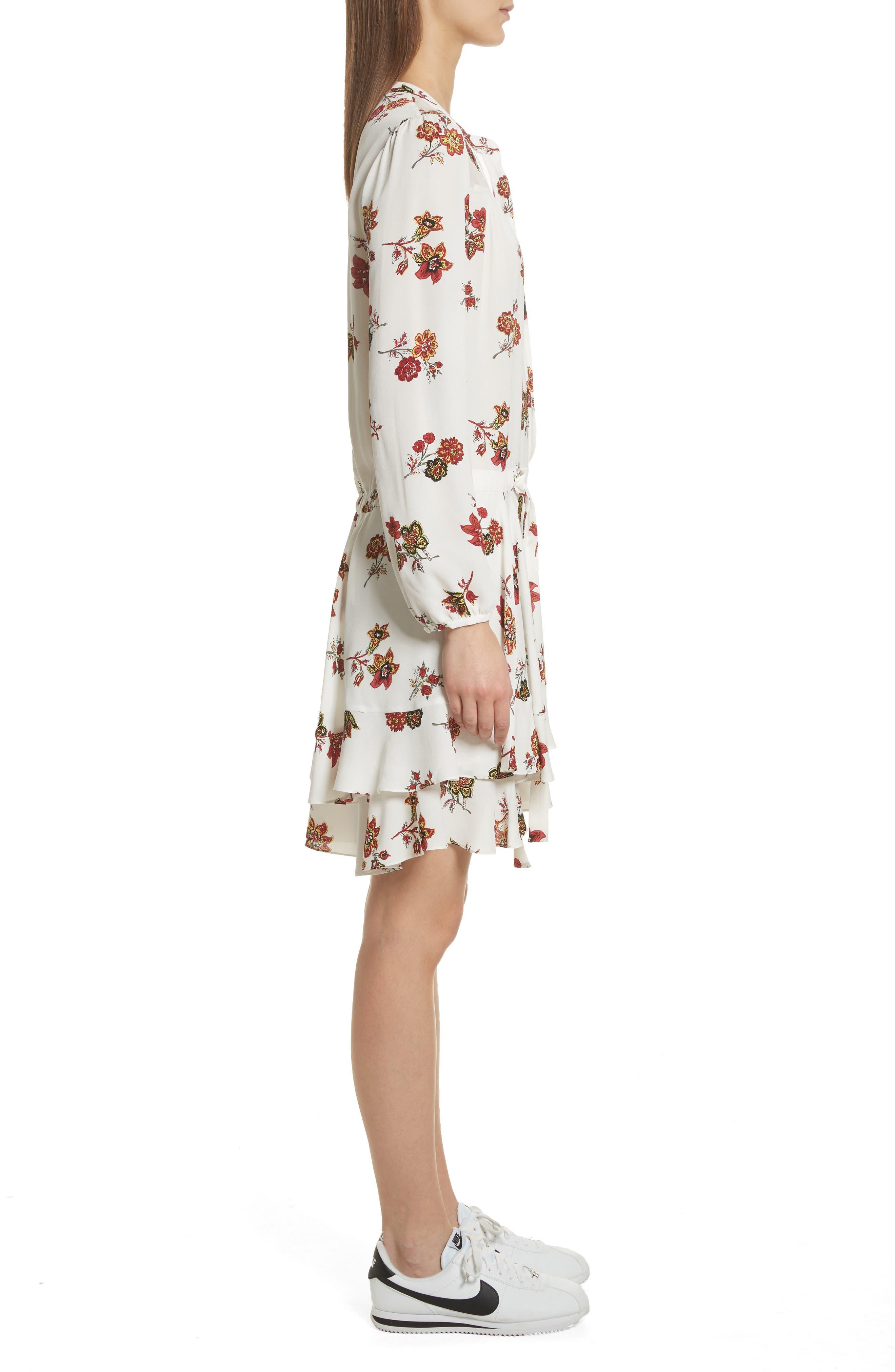 Rori Silk Drop Waist Dress,                             Alternate thumbnail 3, color,