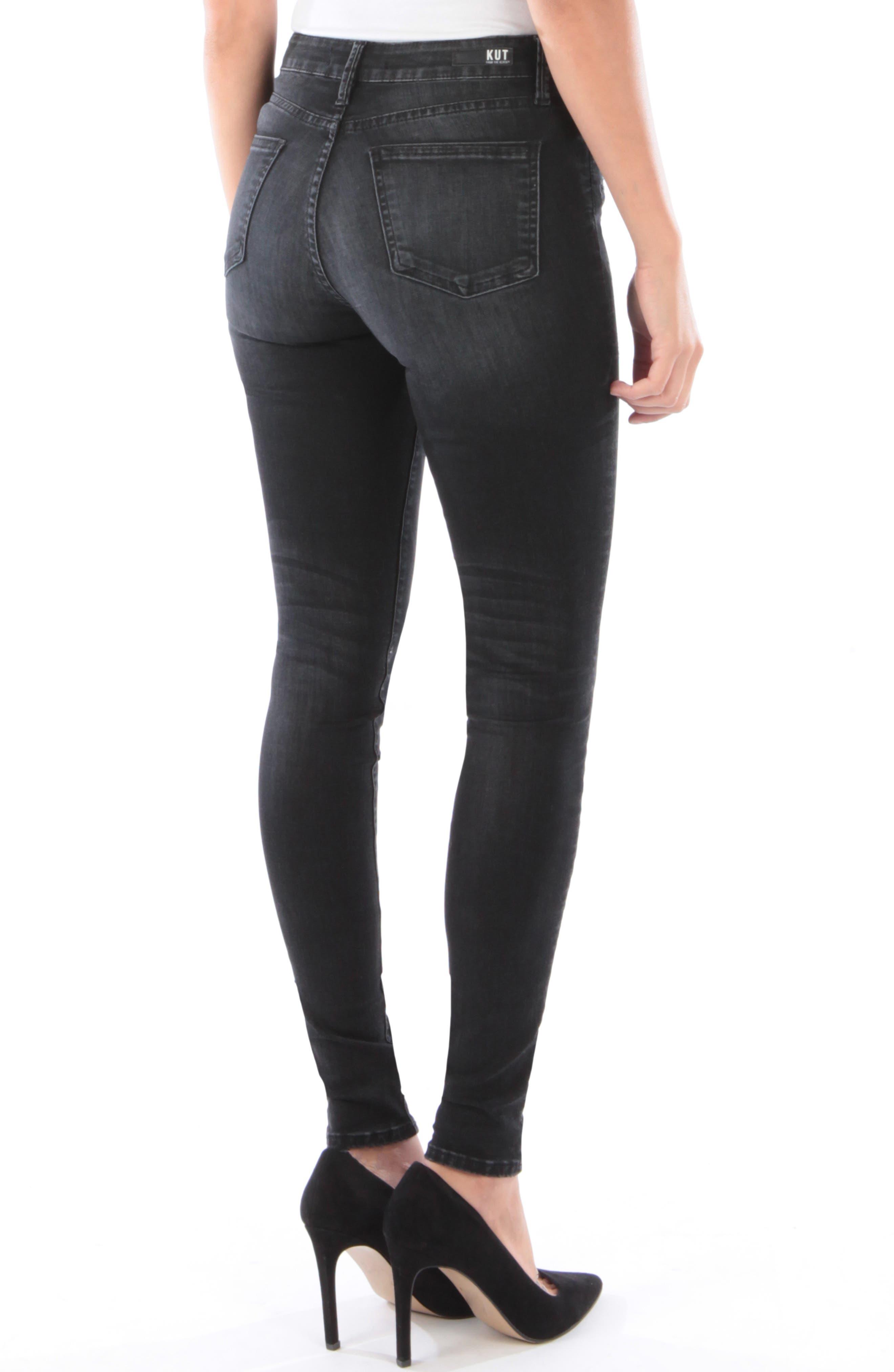 Mia High Waist Skinny Jeans,                             Alternate thumbnail 2, color,                             007