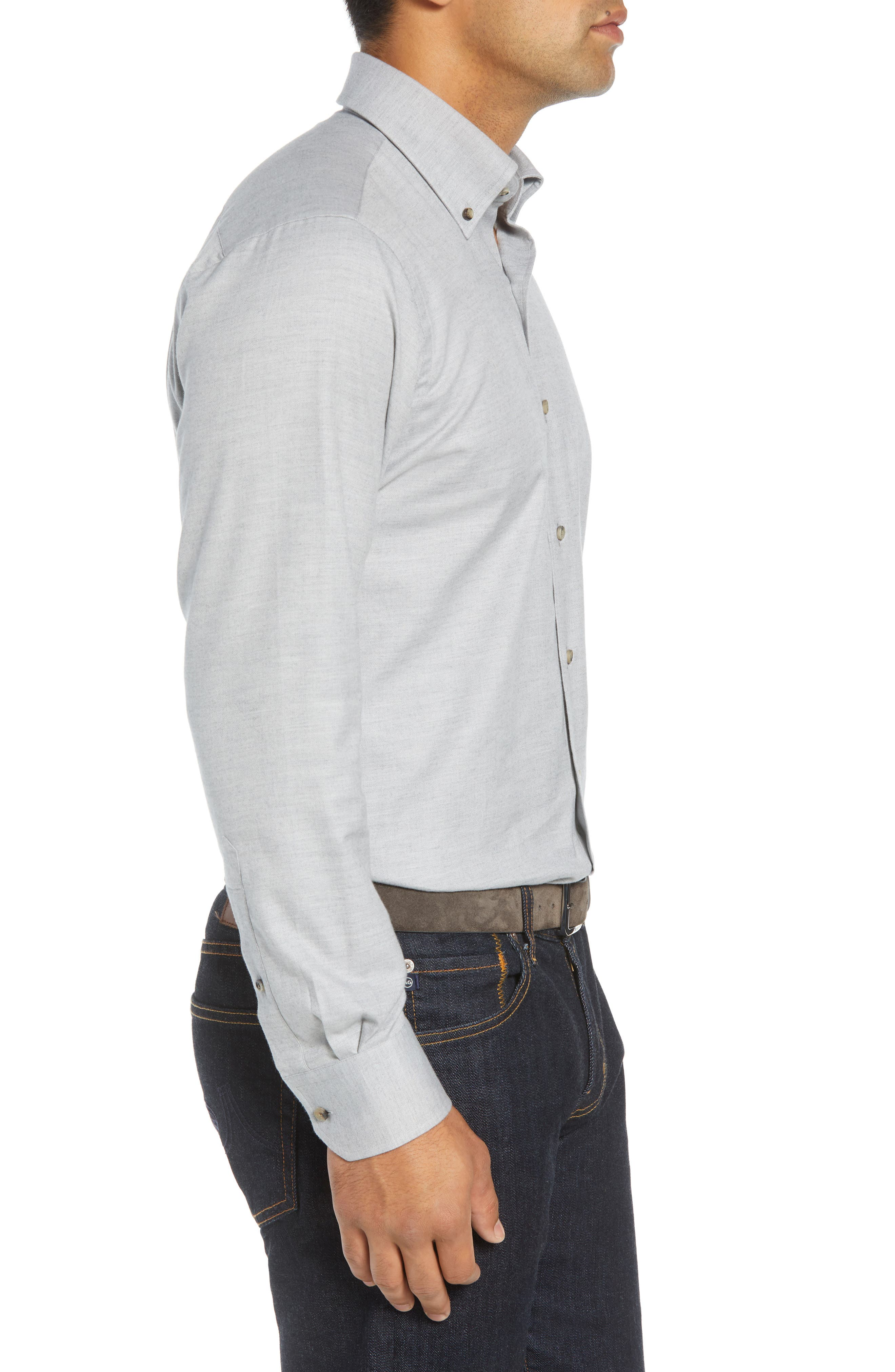 Hamra Regular Fit Sport Shirt,                             Alternate thumbnail 4, color,                             PLATINUM