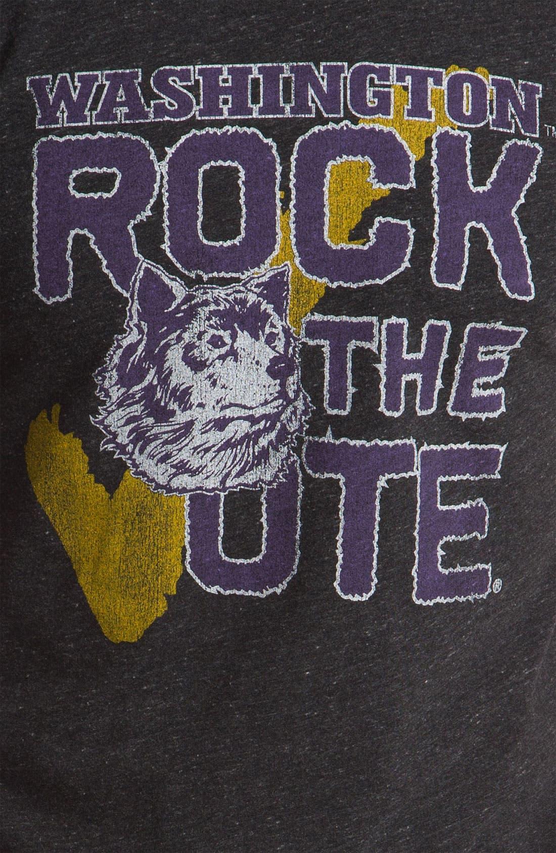 The Original Retro Brand 'University of Washington Huskies' T-Shirt,                             Alternate thumbnail 3, color,                             001