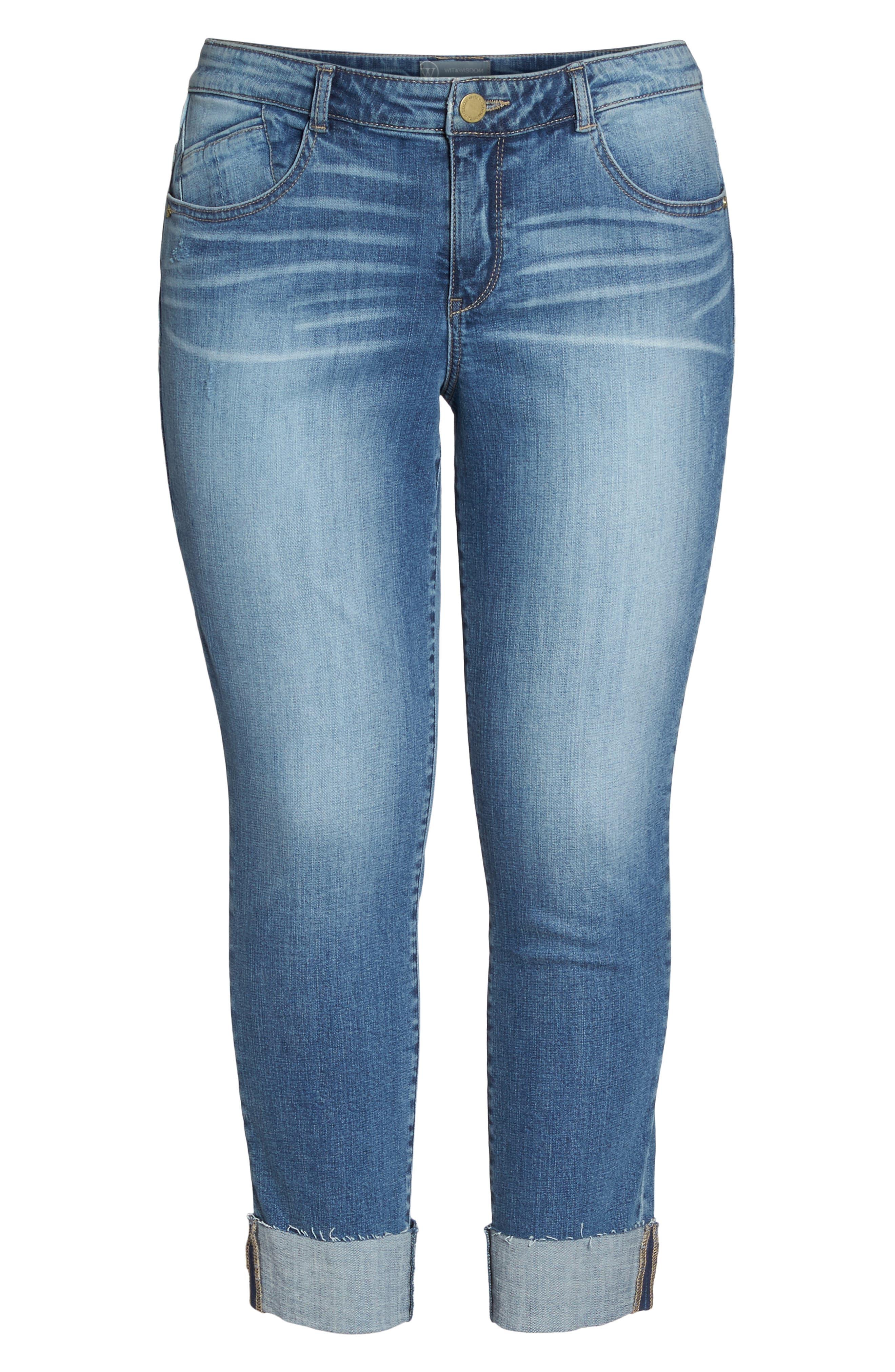 Flex-ellent Boyfriend Jeans,                             Alternate thumbnail 7, color,                             BLUE