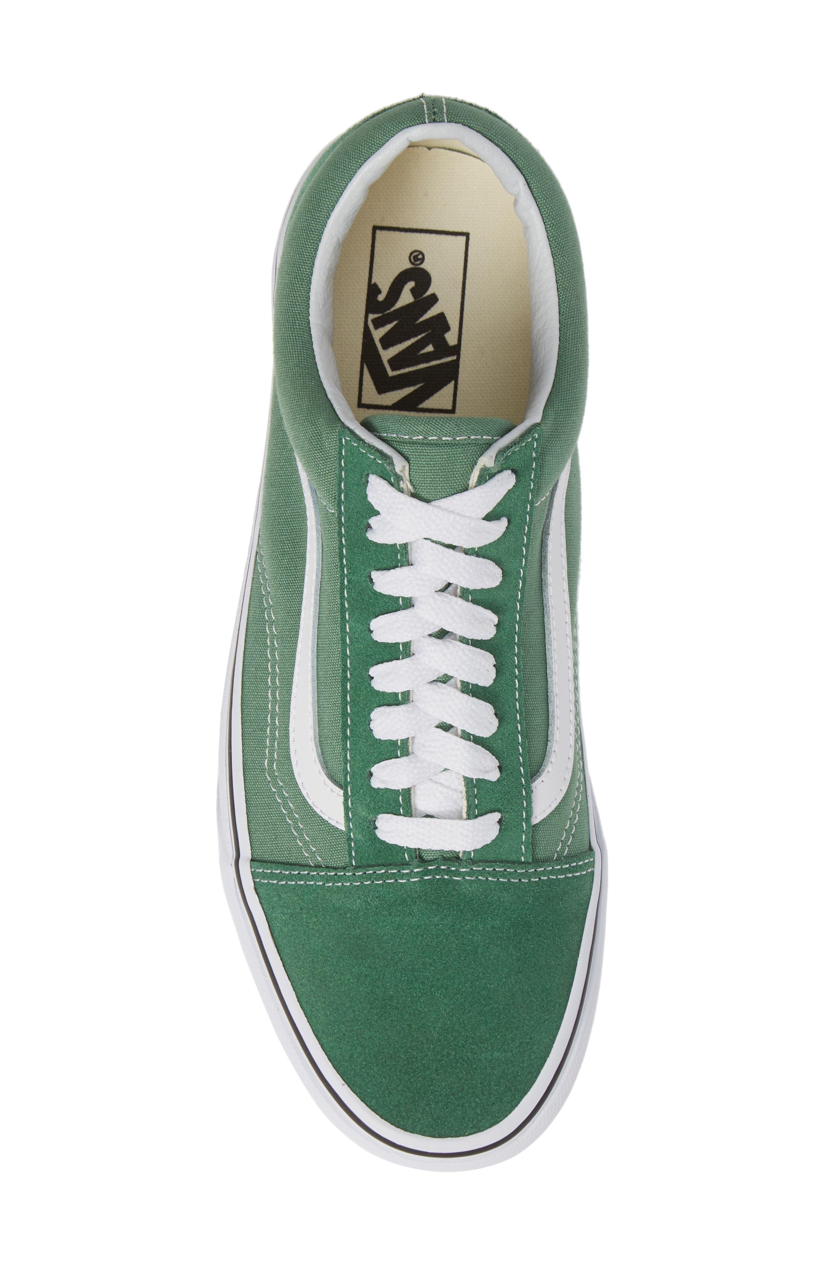 'Old Skool' Sneaker,                             Alternate thumbnail 5, color,                             DEEP GRASS GREEN/ TRUE WHITE