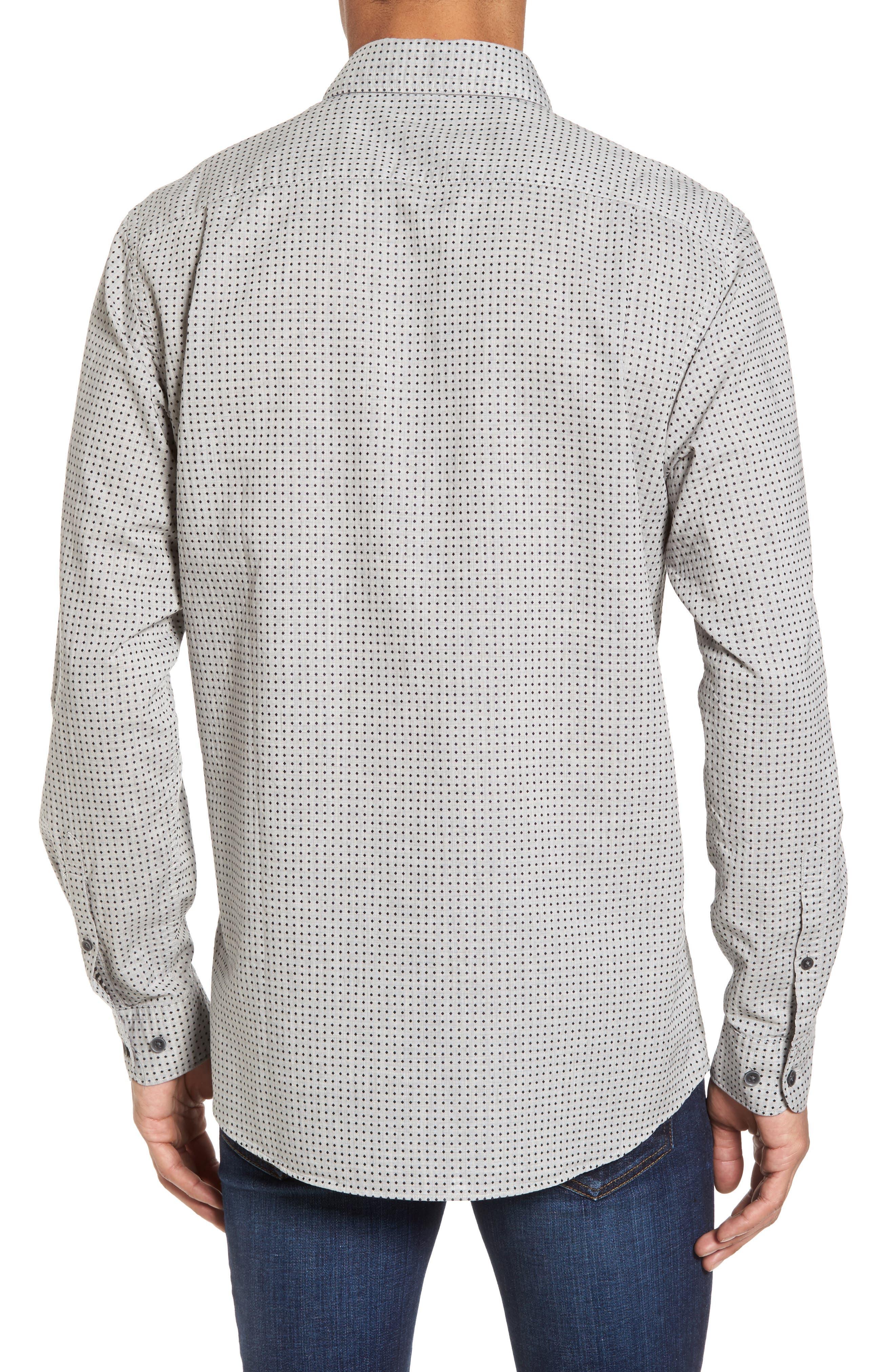 Judgeford Slim Fit Jacquard Sport Shirt,                             Alternate thumbnail 2, color,