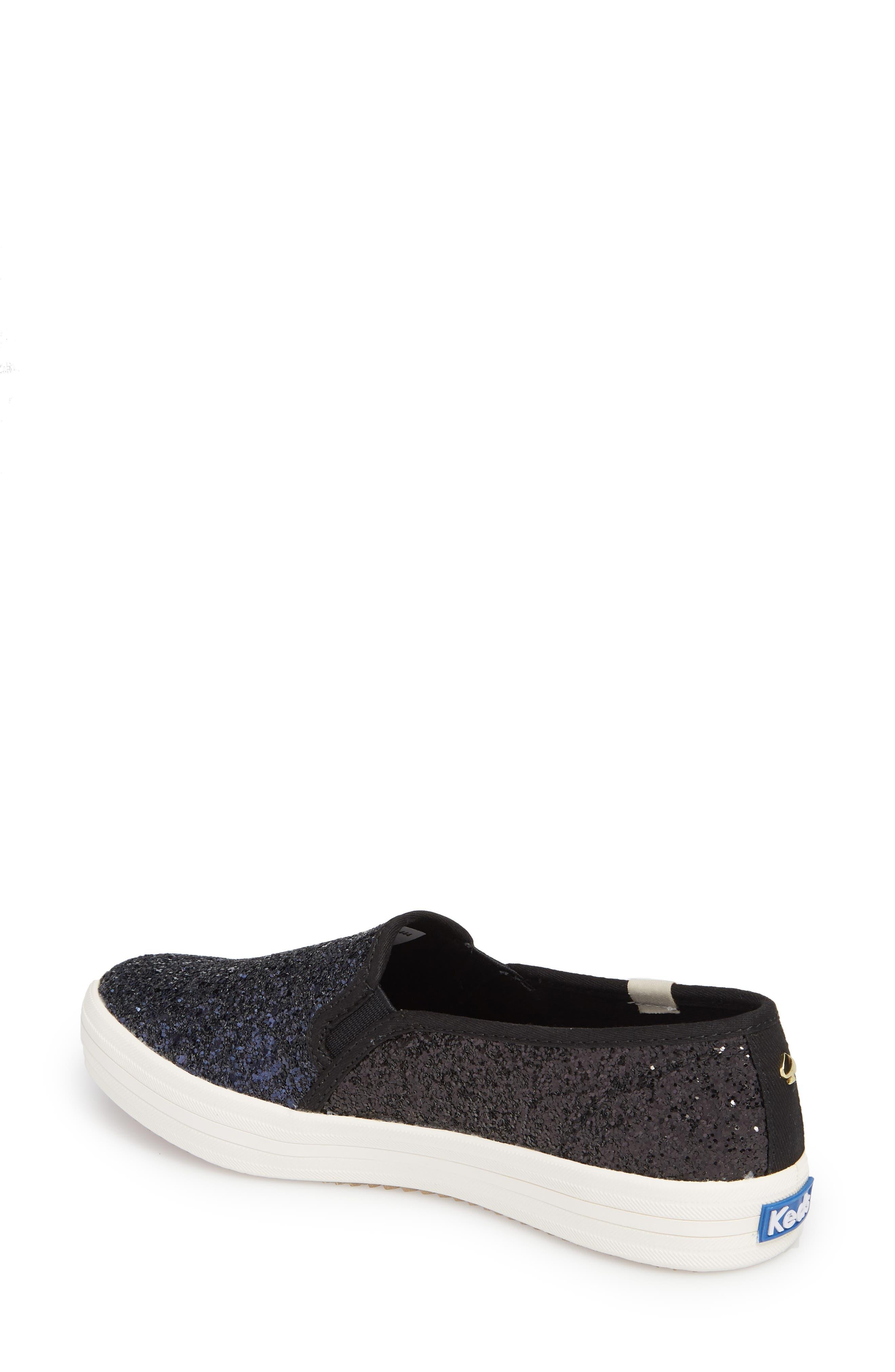 double decker glitter slip-on sneaker,                             Alternate thumbnail 2, color,                             410