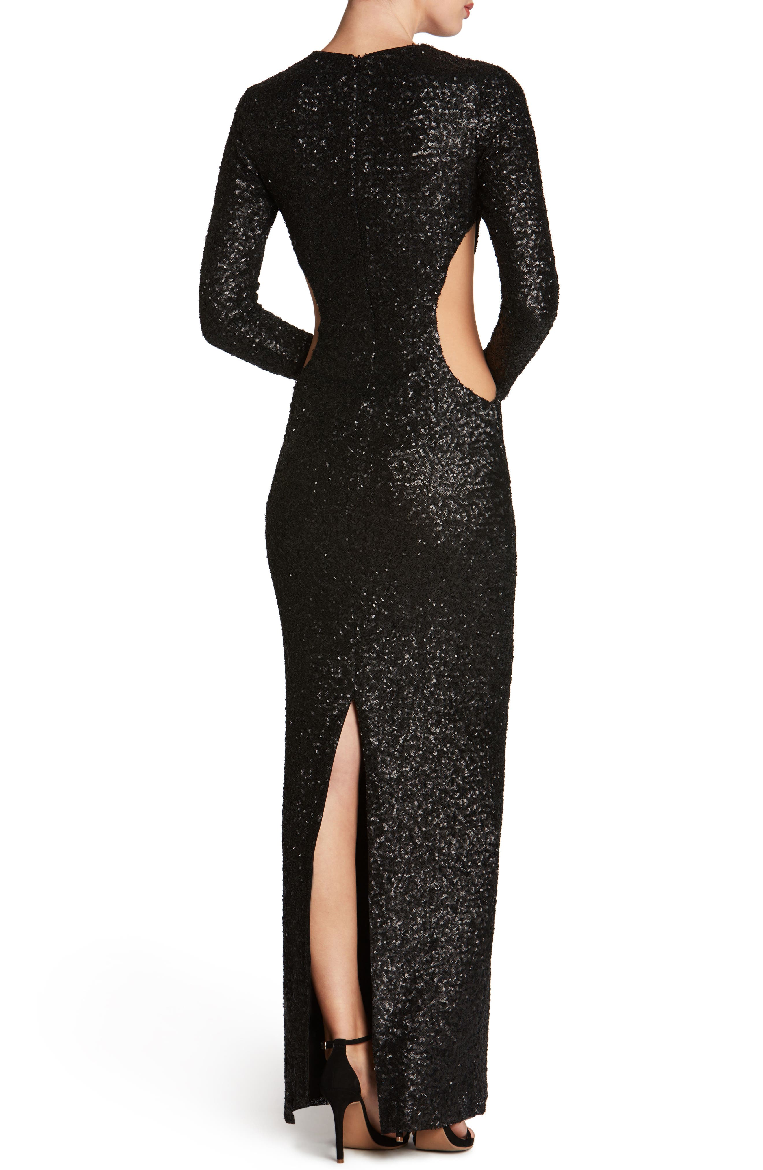 Lara Body-Con Gown,                             Alternate thumbnail 8, color,