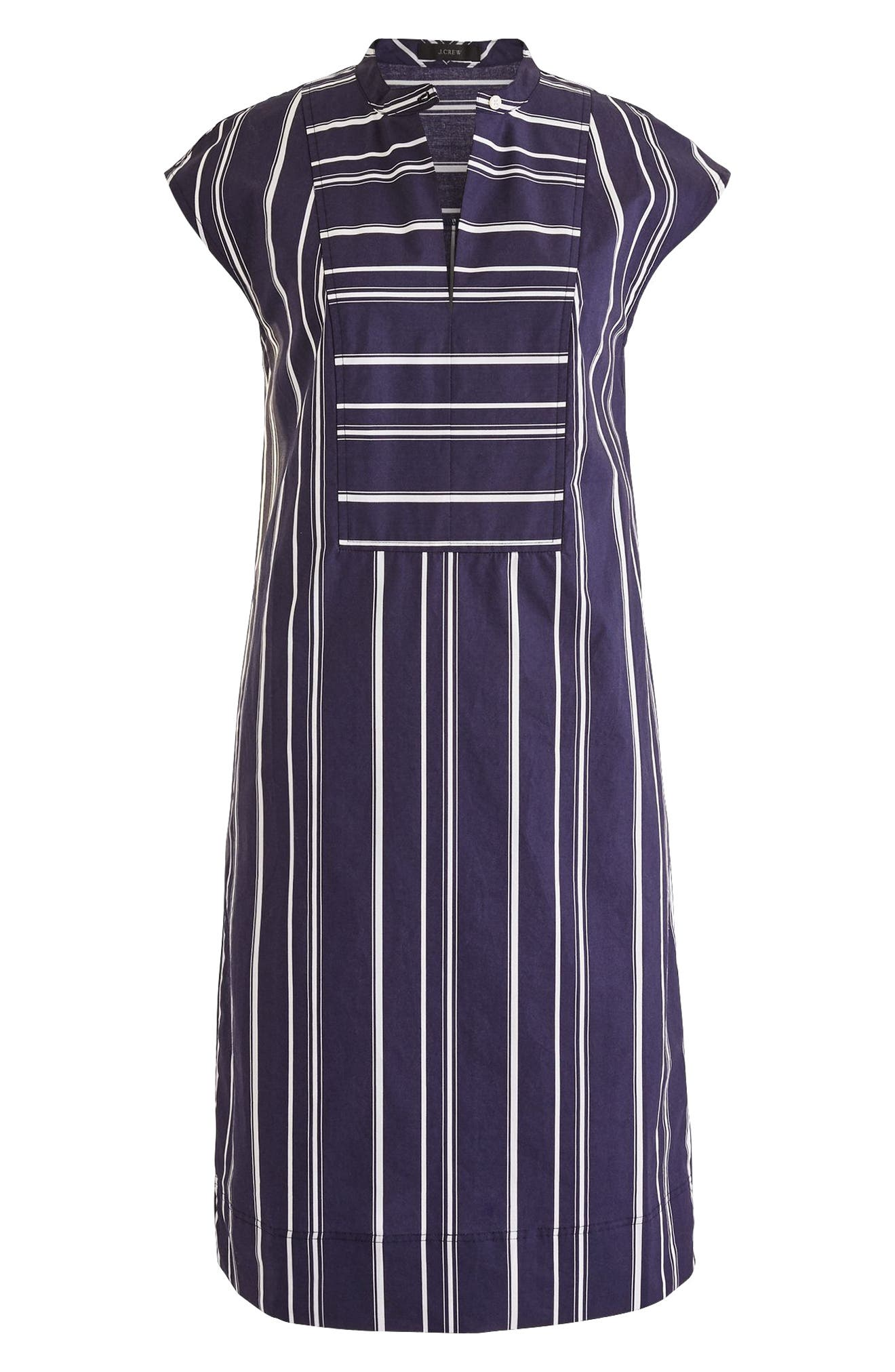 Easy Stripe Poplin Tunic Dress,                             Main thumbnail 1, color,