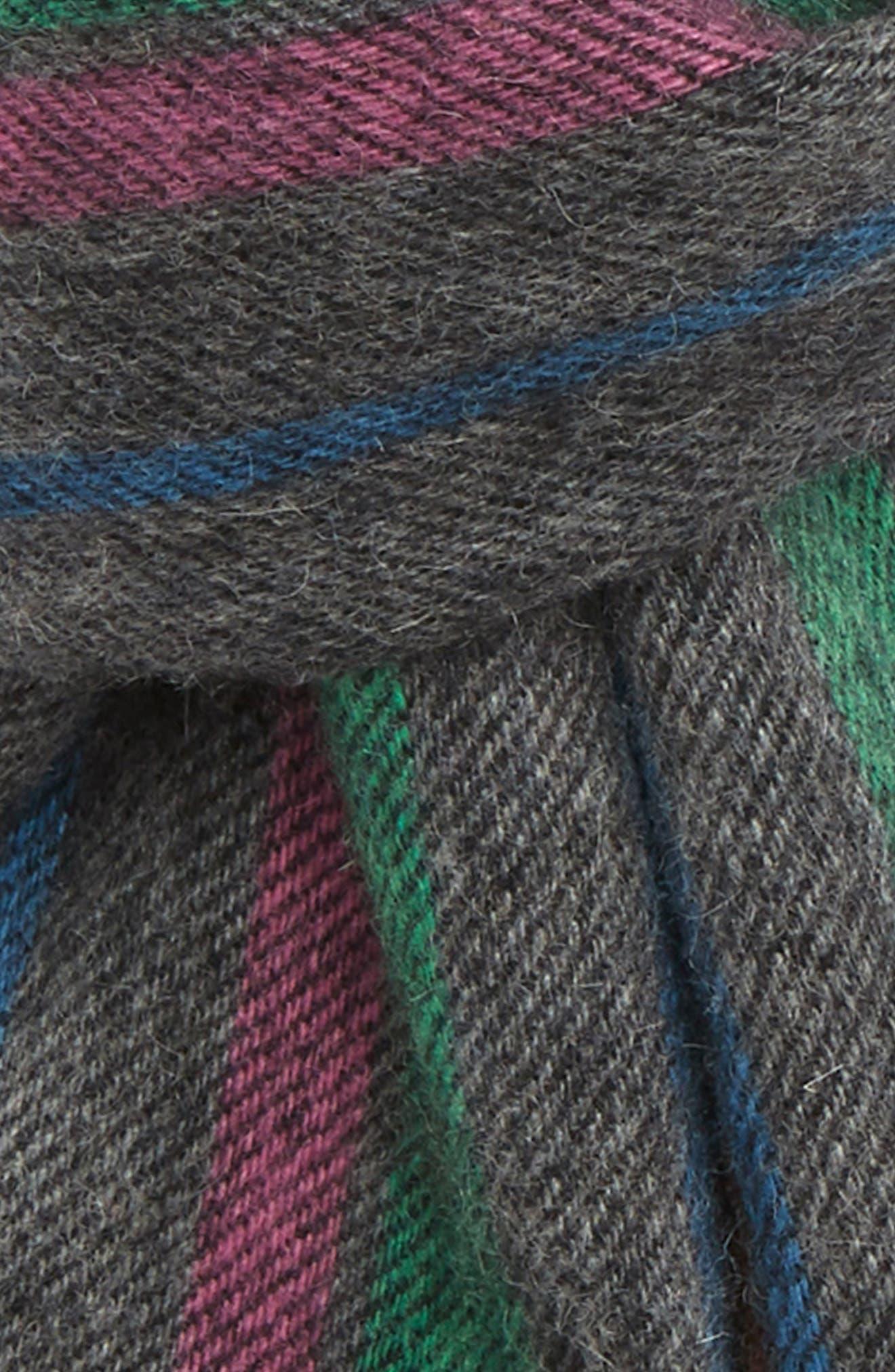 Stripe Wool Scarf,                             Alternate thumbnail 3, color,                             028