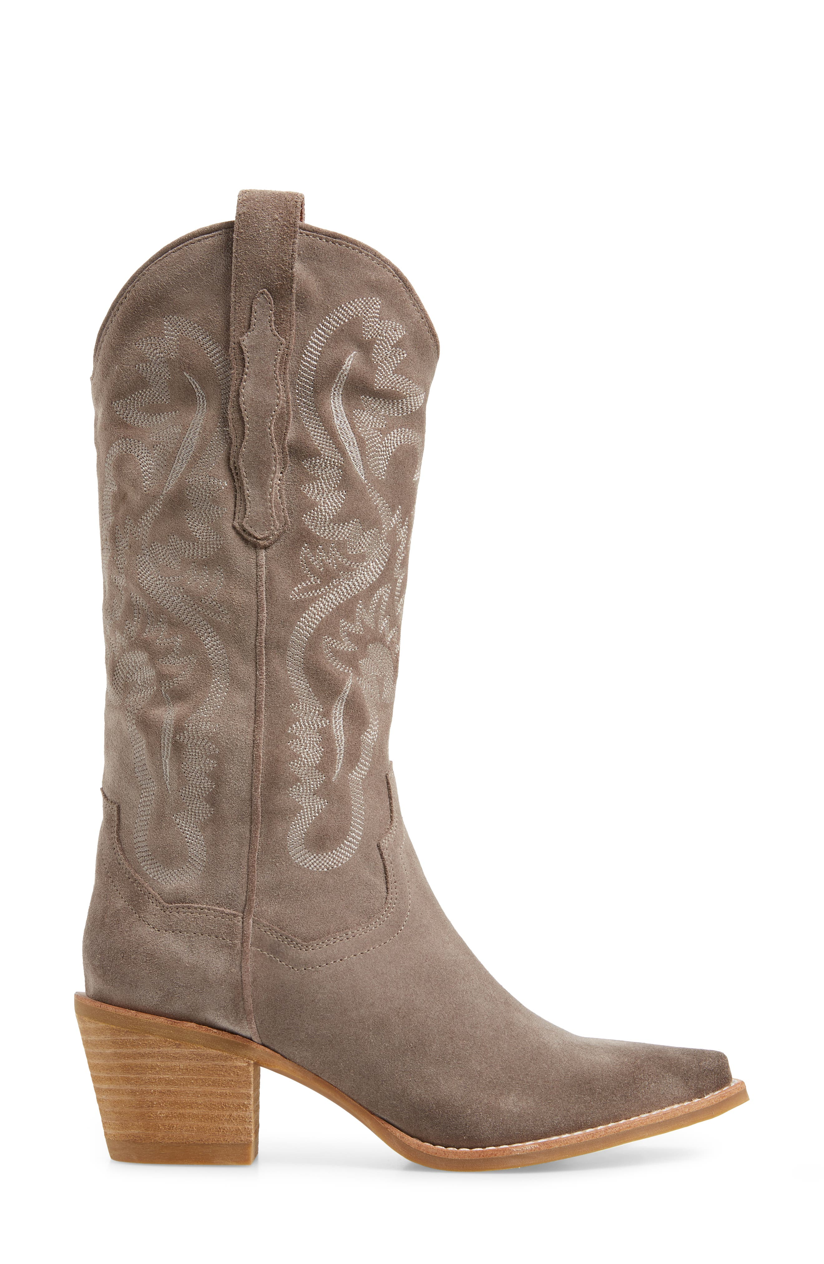 Dagget Western Boot,                             Alternate thumbnail 3, color,                             TAUPE SUEDE