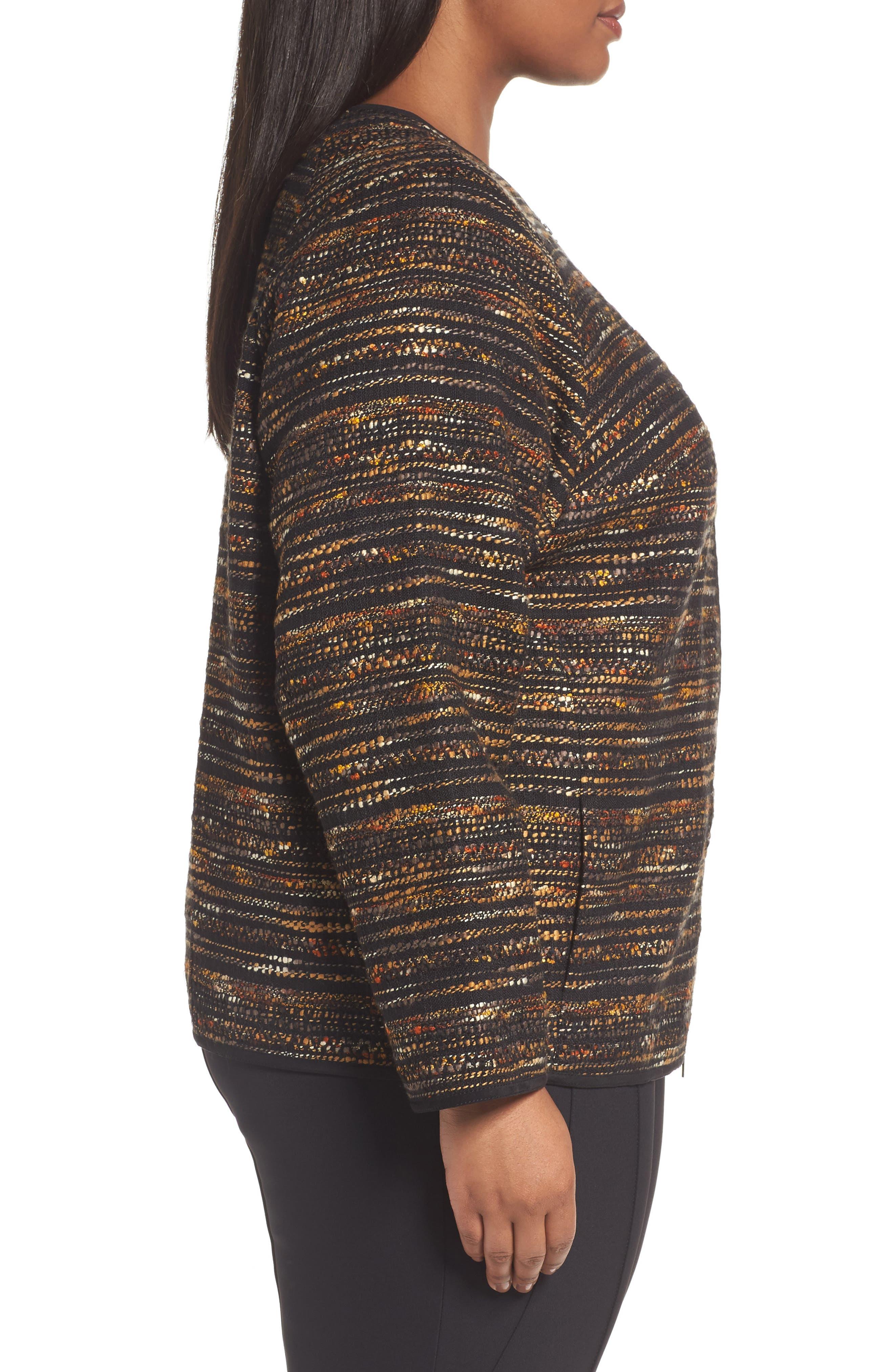 Alexa Tweed Jacket,                             Alternate thumbnail 3, color,                             003