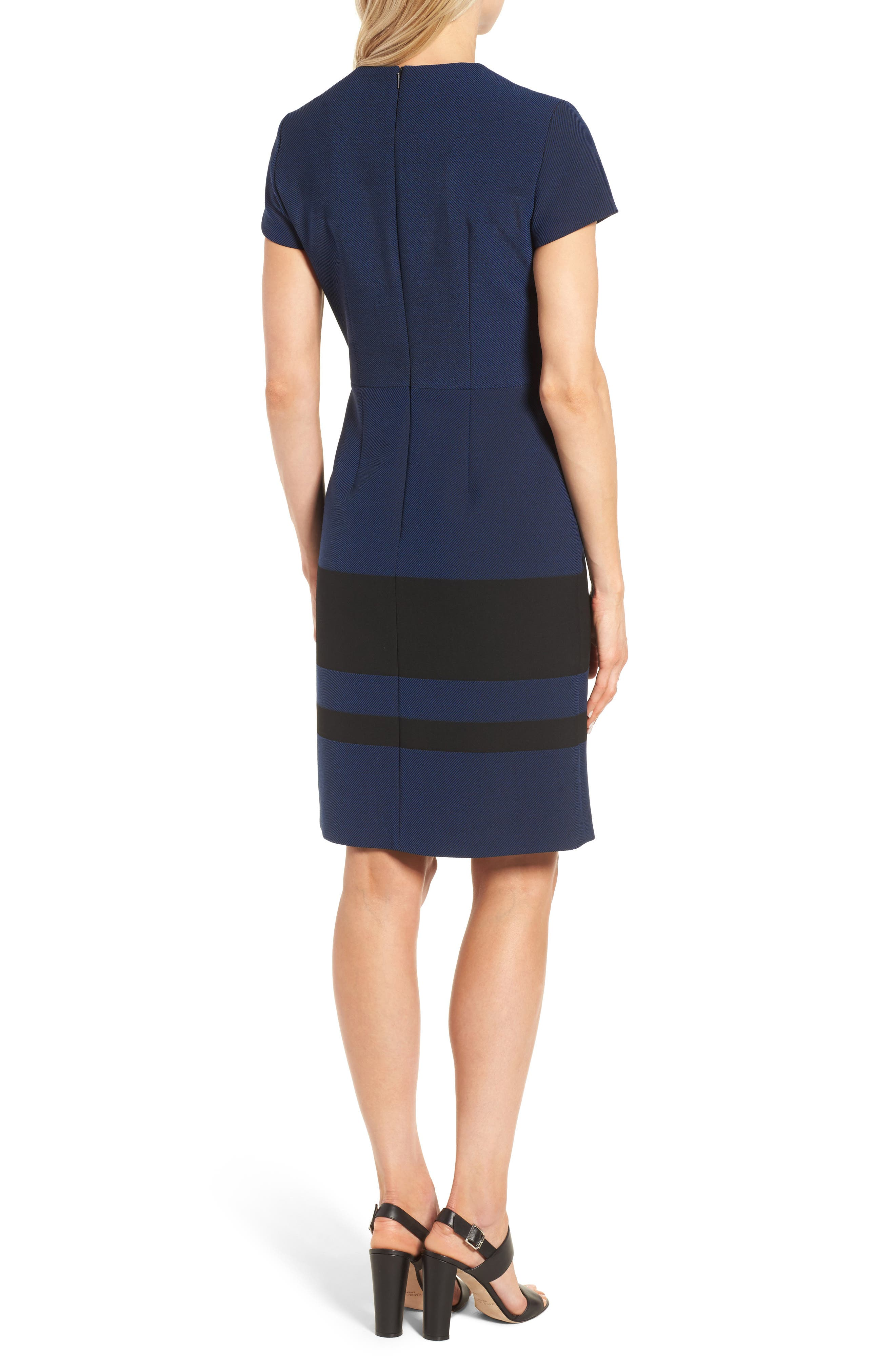 Hermely Stripe Sheath Dress,                             Alternate thumbnail 2, color,                             400