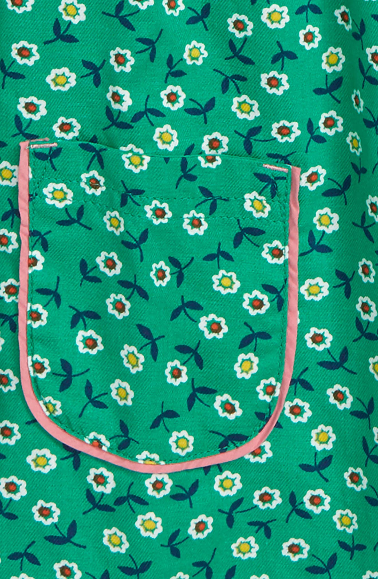 Floaty Woven Tunic,                             Alternate thumbnail 2, color,                             GREEN PEPPER RETRO DAISIES
