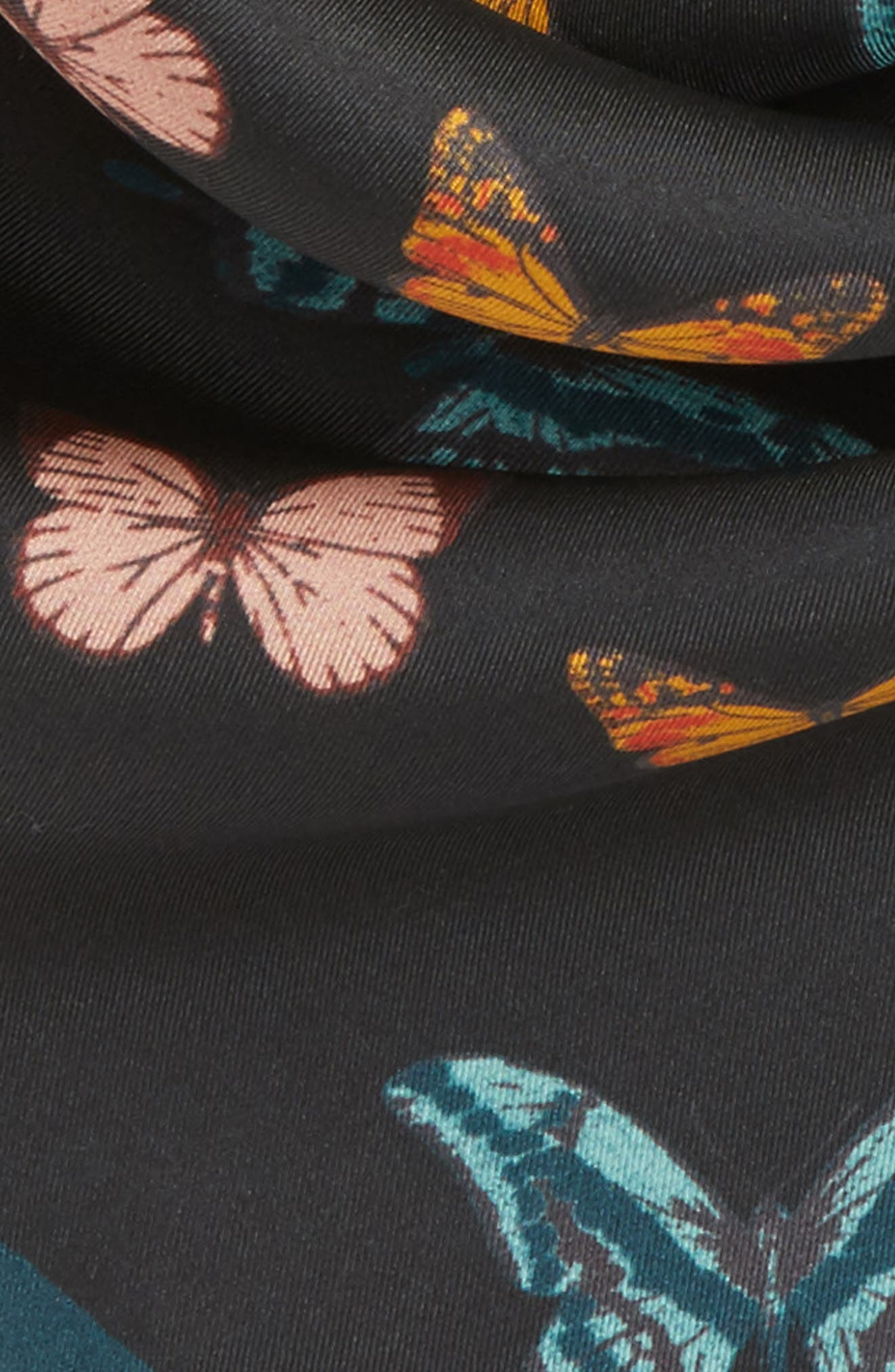 Butterfly Silk Bandana,                             Alternate thumbnail 4, color,                             001
