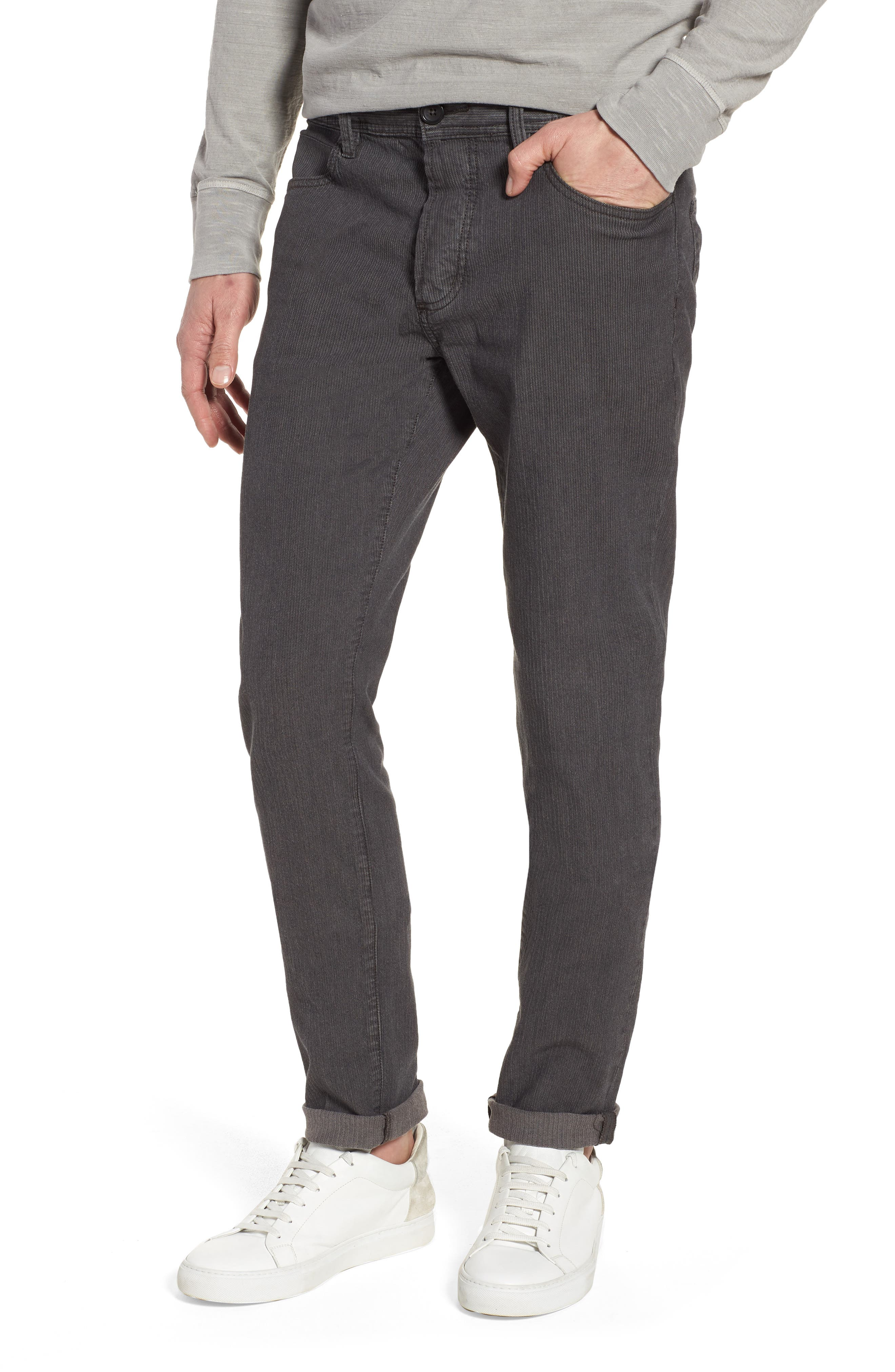 Slim Fit Stretch Herringbone Pants,                             Main thumbnail 1, color,
