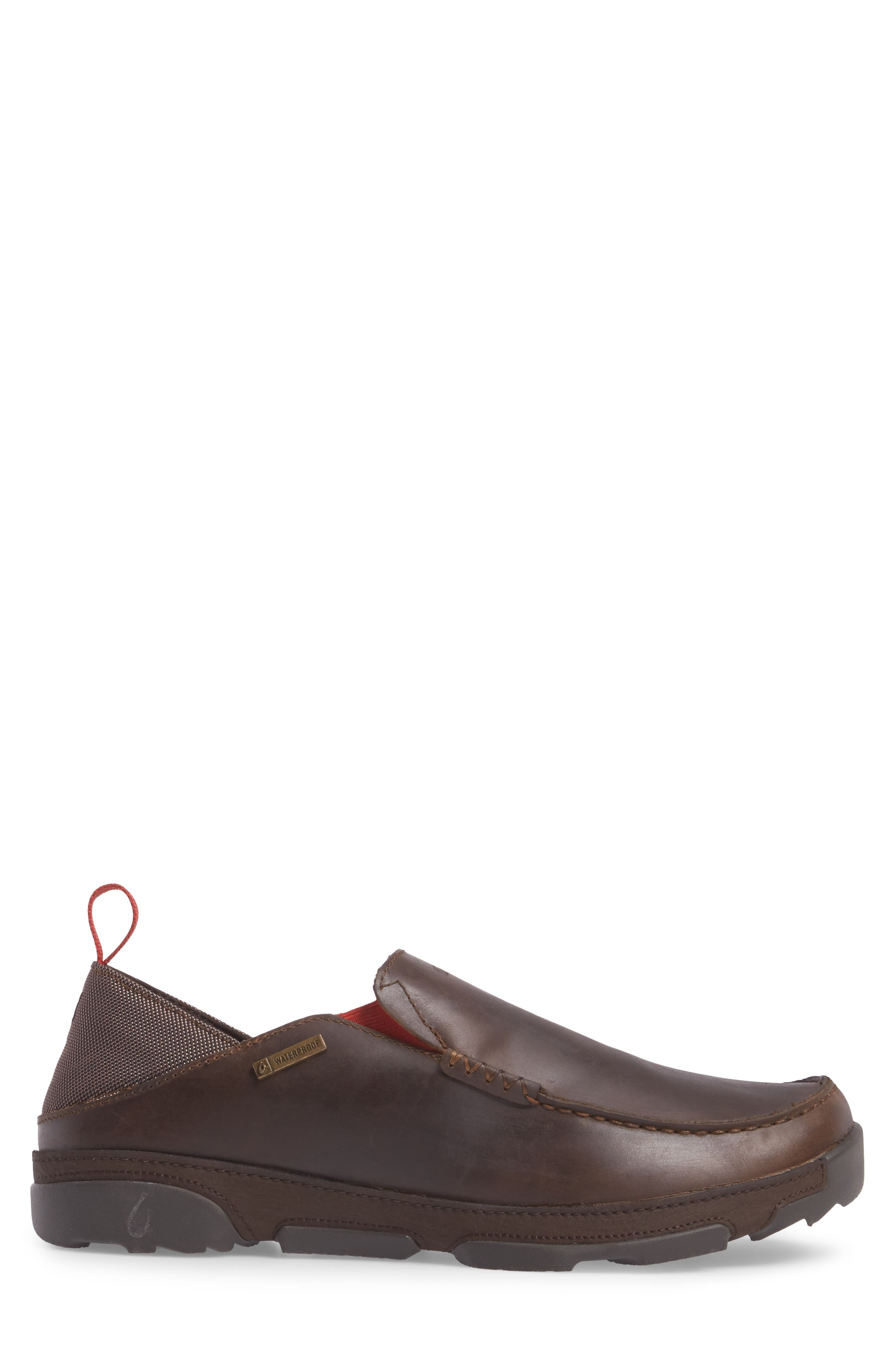 Na'I Collapsible Waterproof Slip-On,                             Alternate thumbnail 3, color,                             CAROB/ DARK WOOD LEATHER