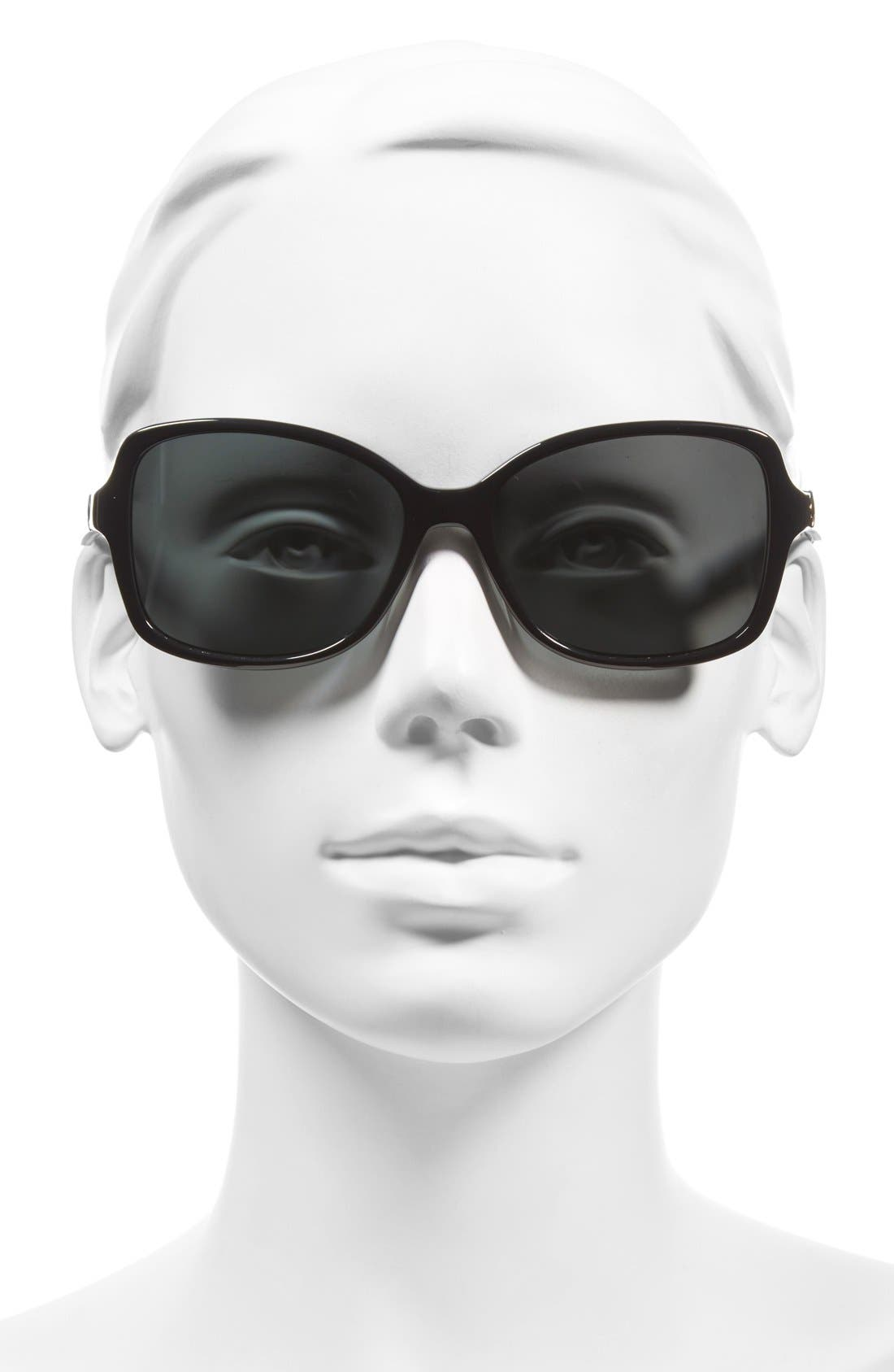 'ayleen' 56mm polarized sunglasses,                             Alternate thumbnail 2, color,                             001
