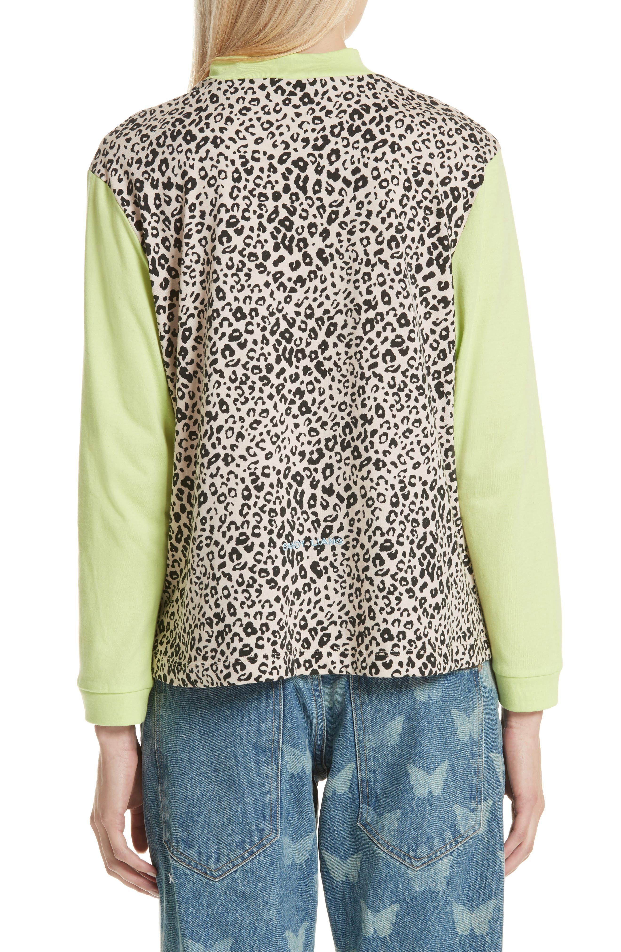 Lewis Leopard & Neon Sweater,                             Alternate thumbnail 2, color,                             SNOW LEOPARD