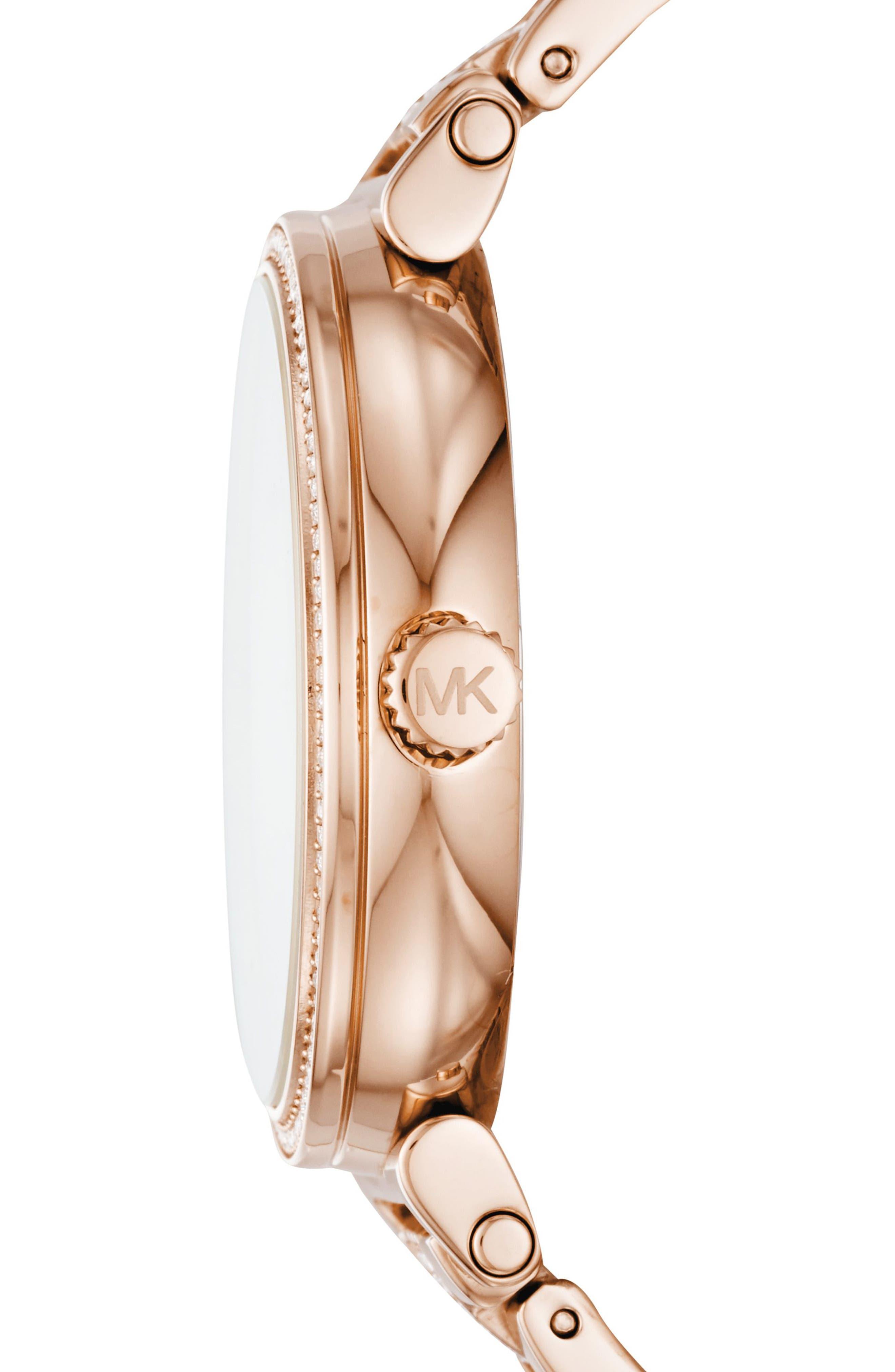 Sofie Bracelet Watch, 36mm,                             Alternate thumbnail 2, color,                             ROSE GOLD