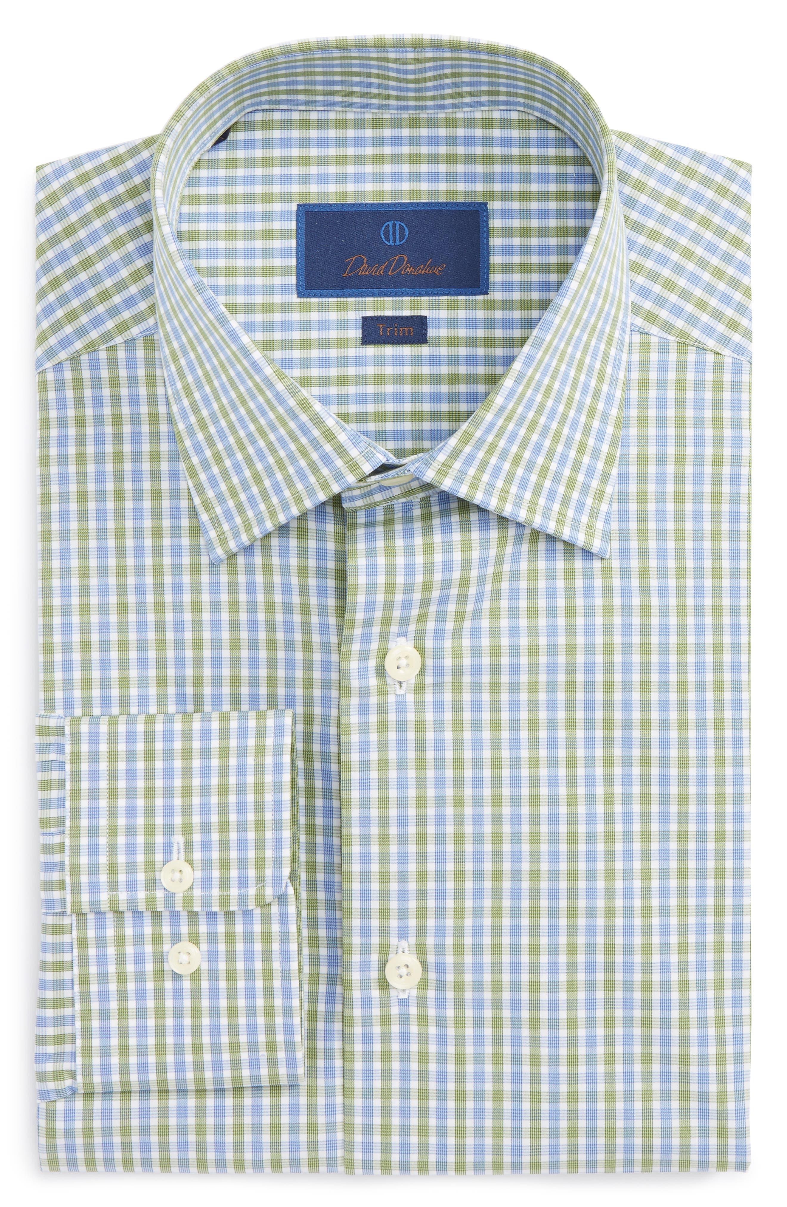Trim Fit Check Dress Shirt,                             Main thumbnail 1, color,                             438