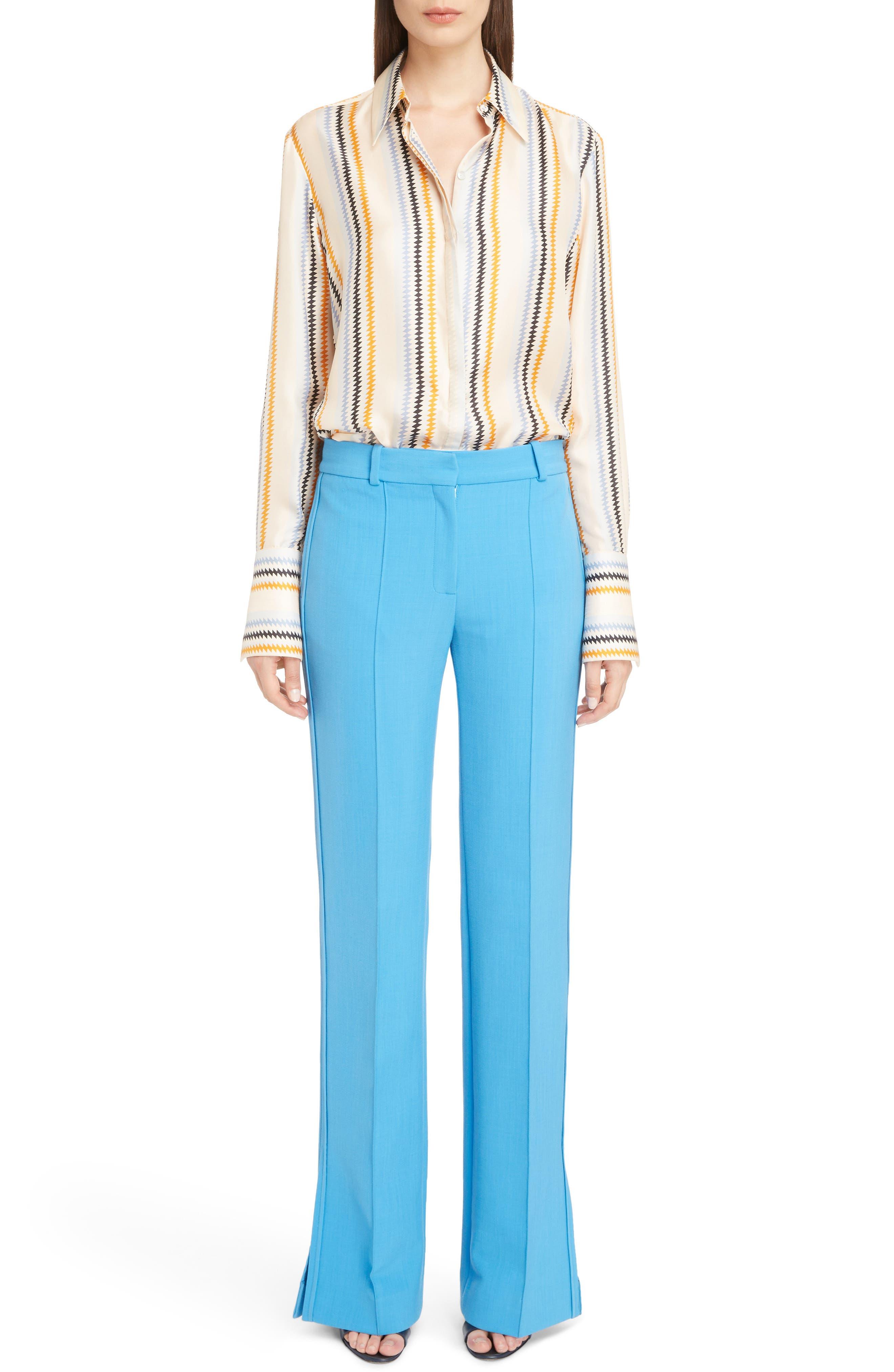 Fluid Stripe Silk Shirt,                             Alternate thumbnail 6, color,                             700