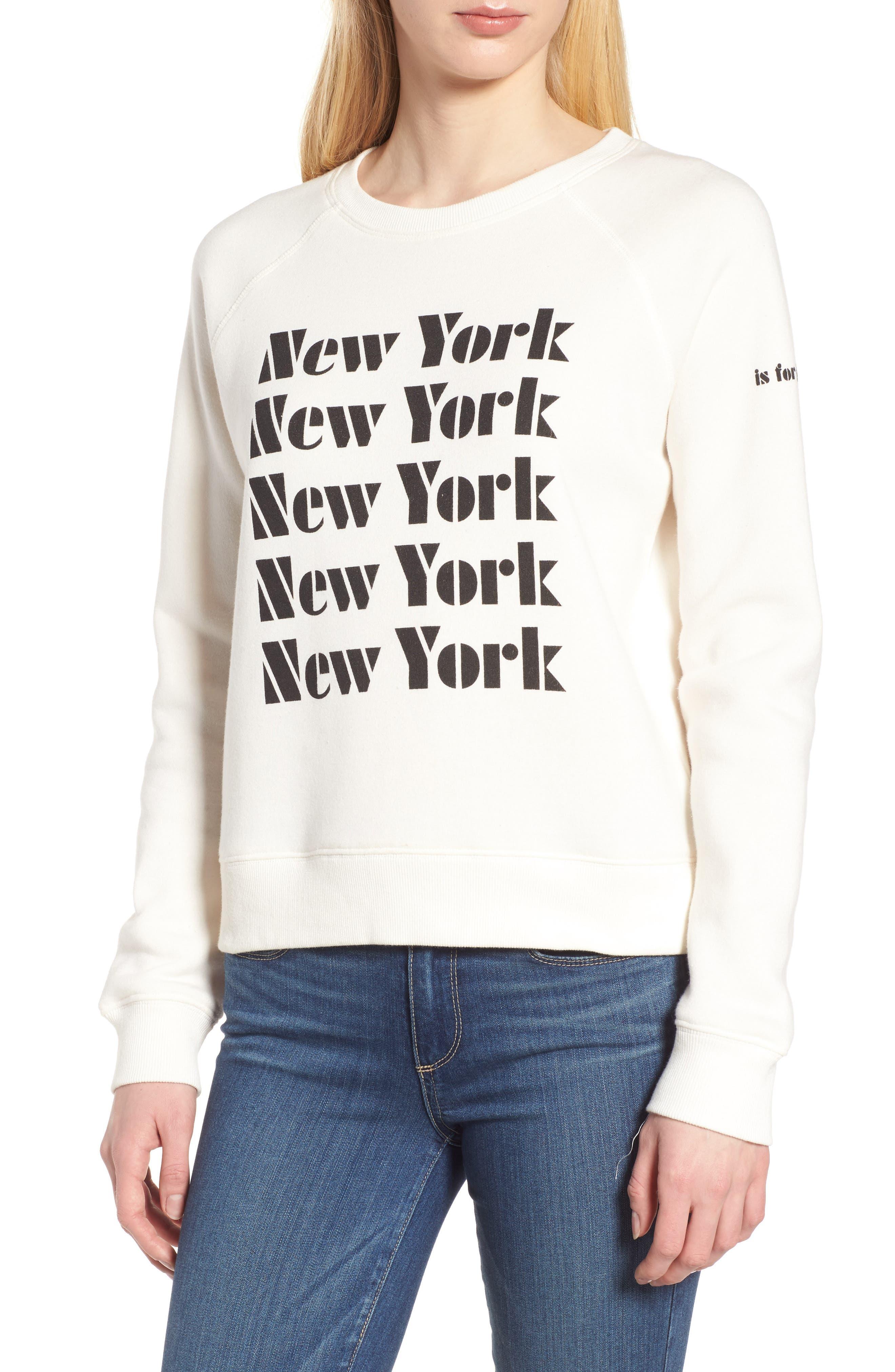 New York Sweatshirt,                             Main thumbnail 1, color,                             901