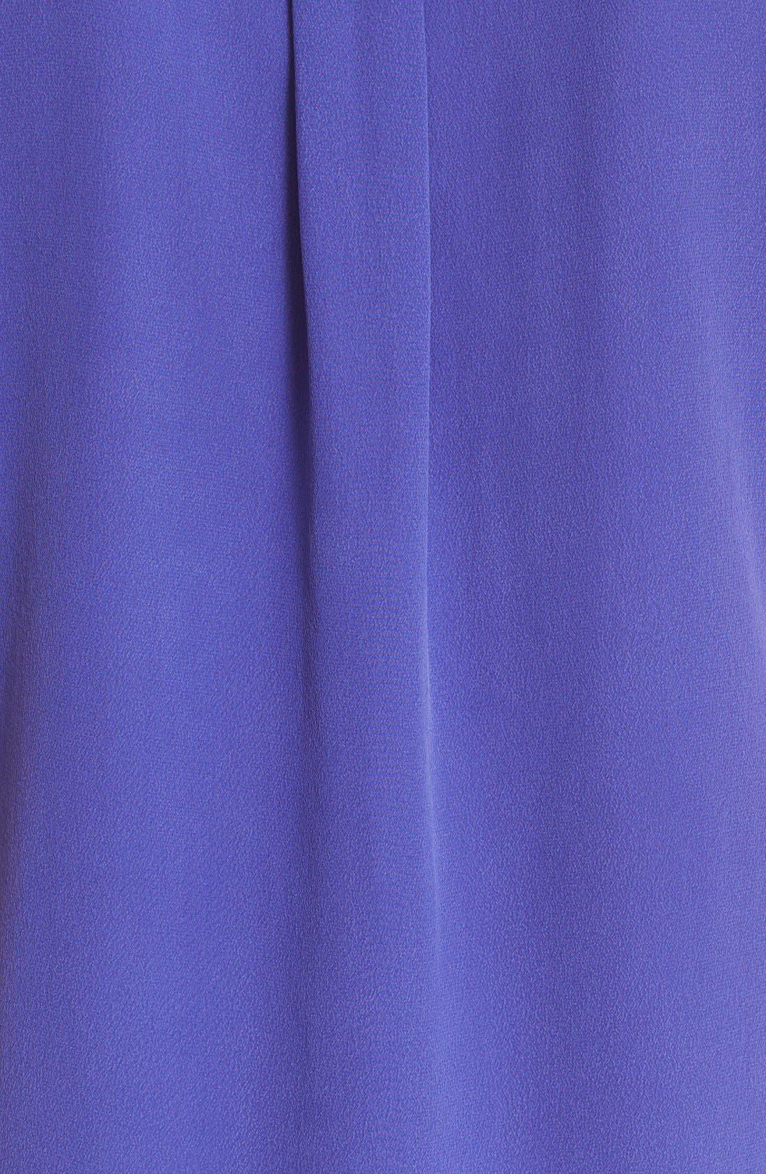'Slim Signature' Sleeveless Silk Shirt,                             Alternate thumbnail 76, color,