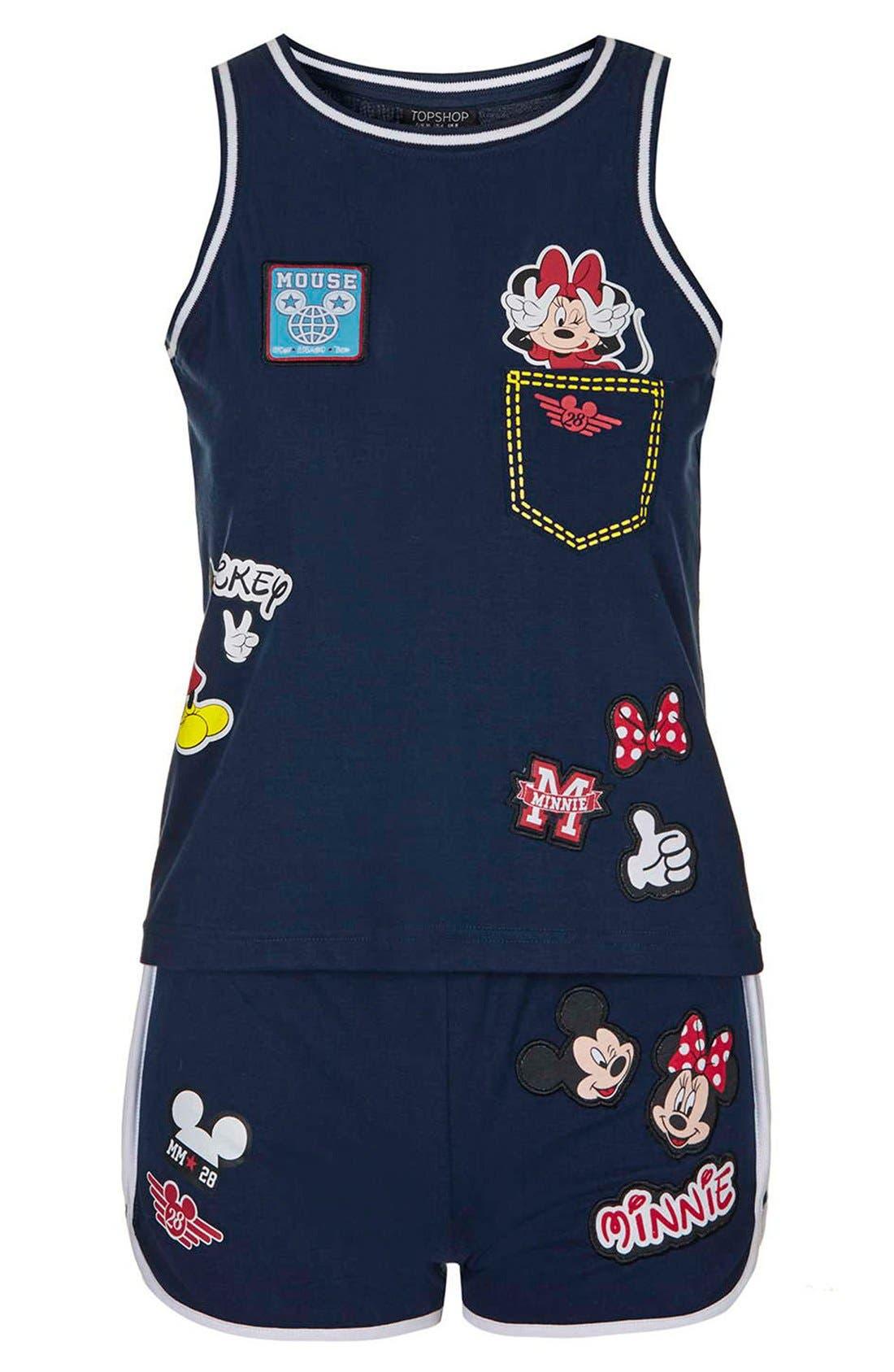 'Mickey & Minnie Mouse' Pajamas,                             Alternate thumbnail 2, color,                             410