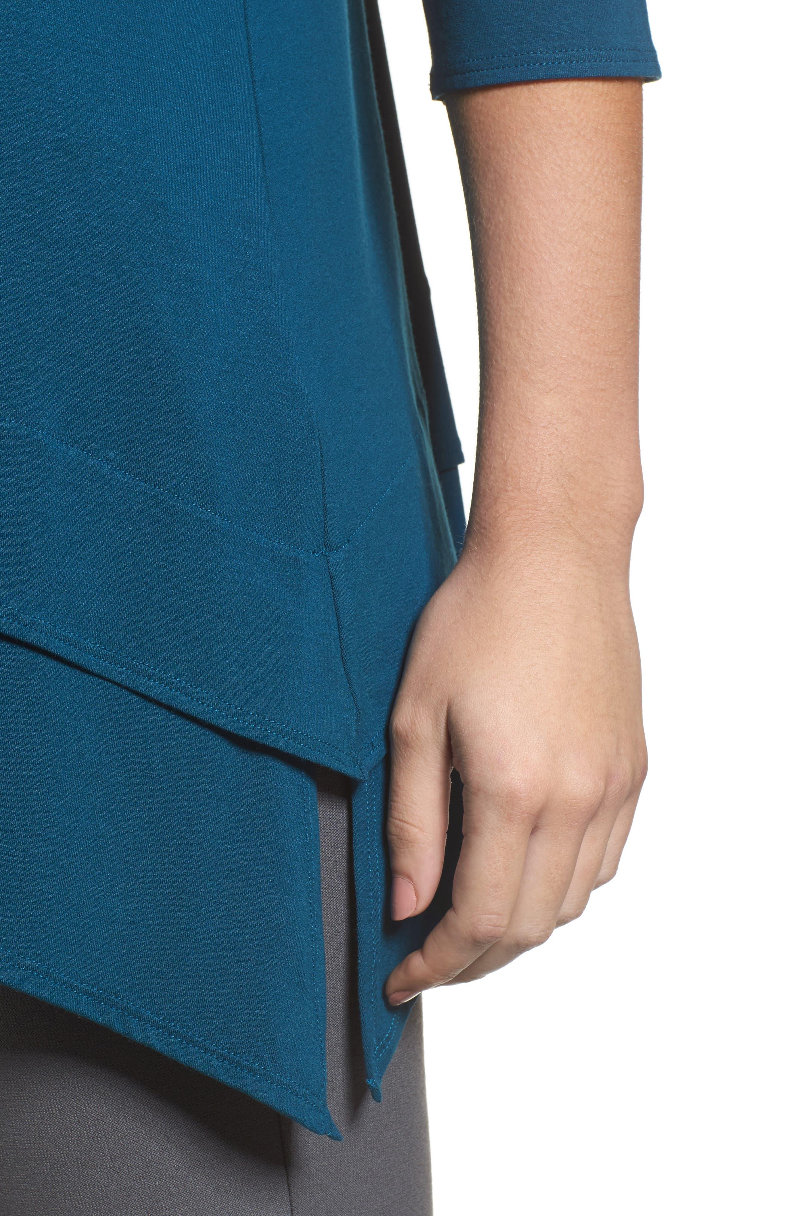Tiered Handkerchief Hem Tunic,                             Alternate thumbnail 17, color,
