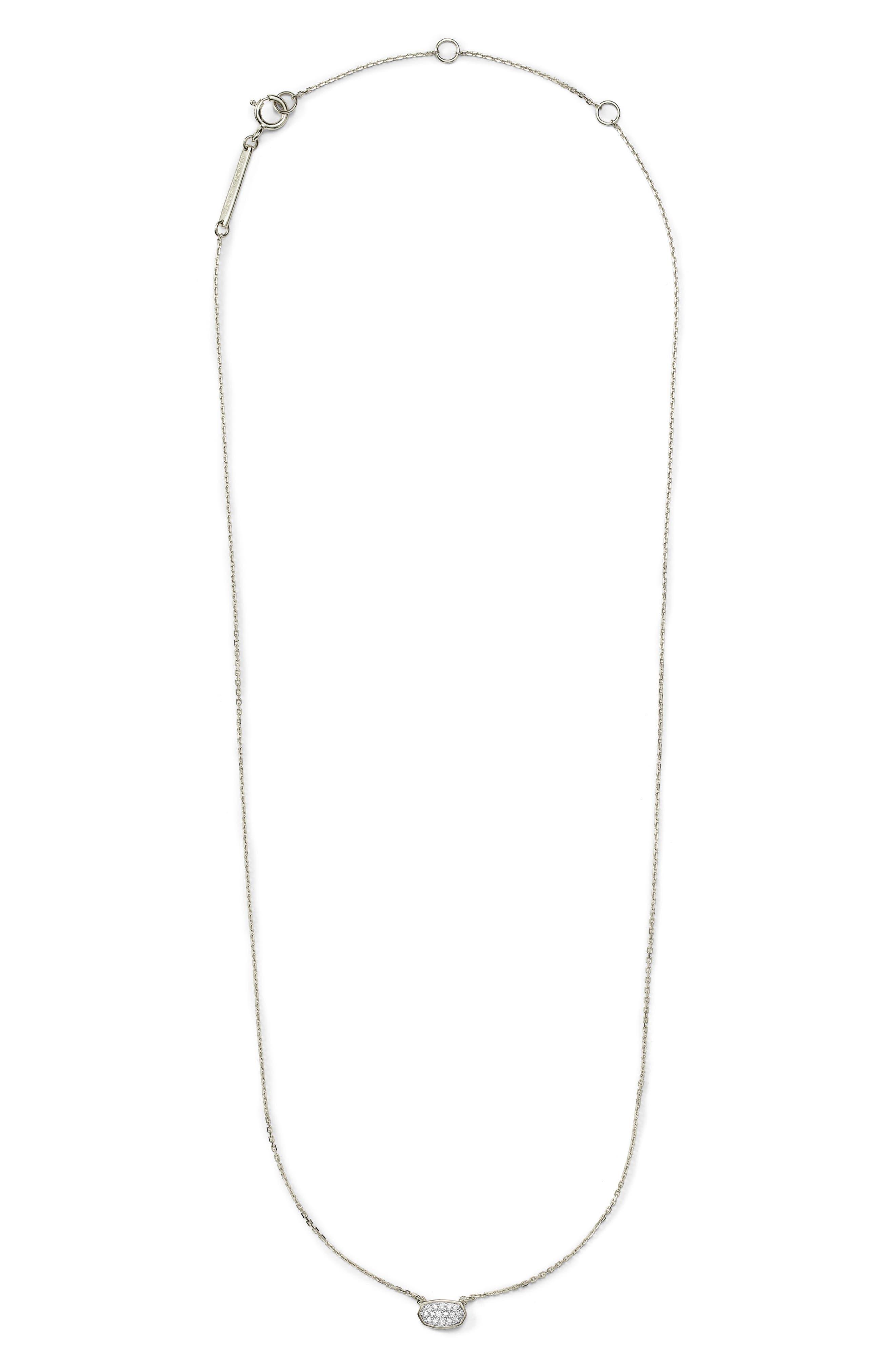 Marisa Diamond Necklace In 14K Yellow Gold Or 14K White Gold, 18 in 14K Wgld White Diamond
