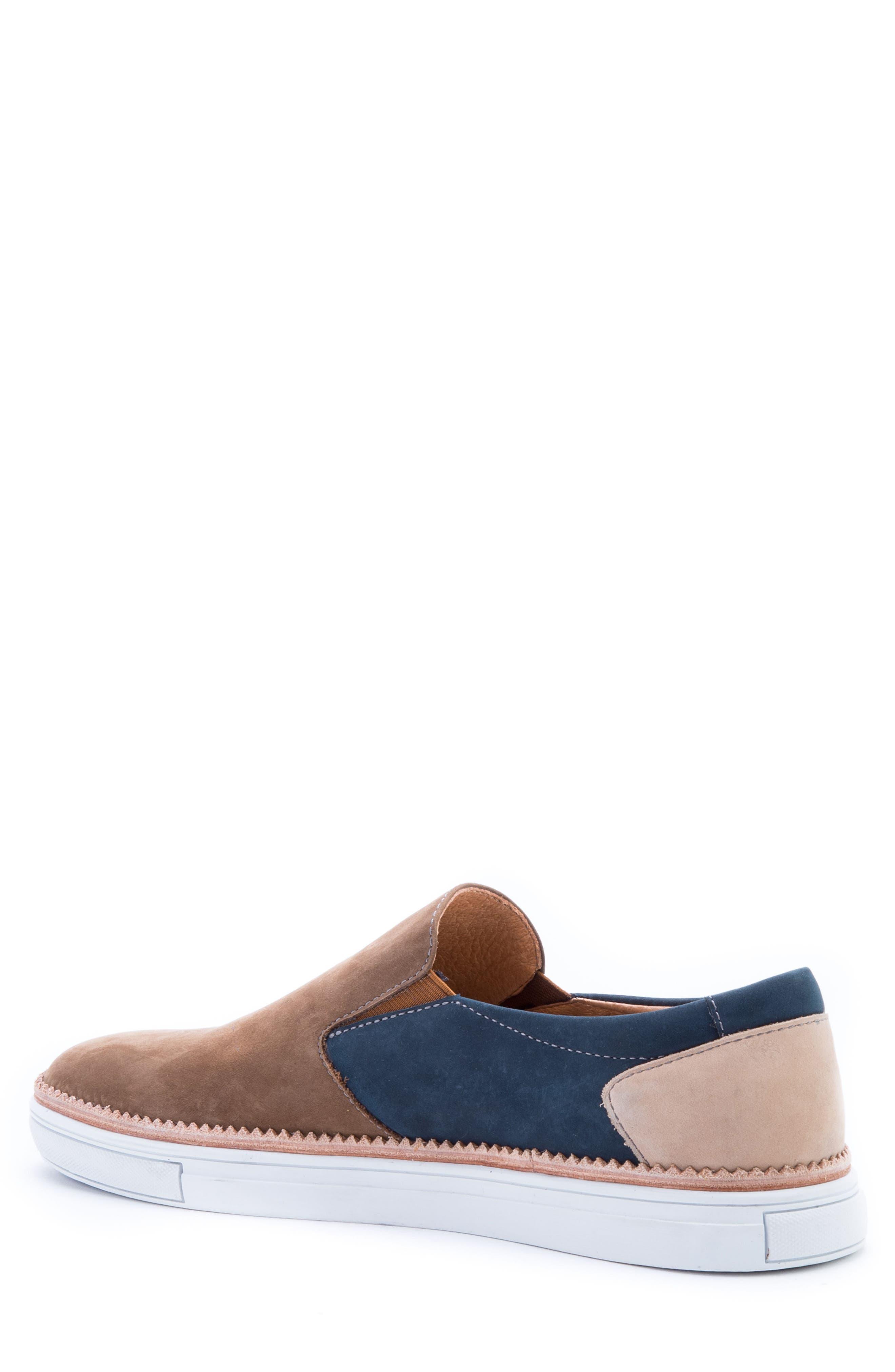 Rivera Colorblocked Slip-On Sneaker,                             Alternate thumbnail 2, color,                             COGNAC SUEDE