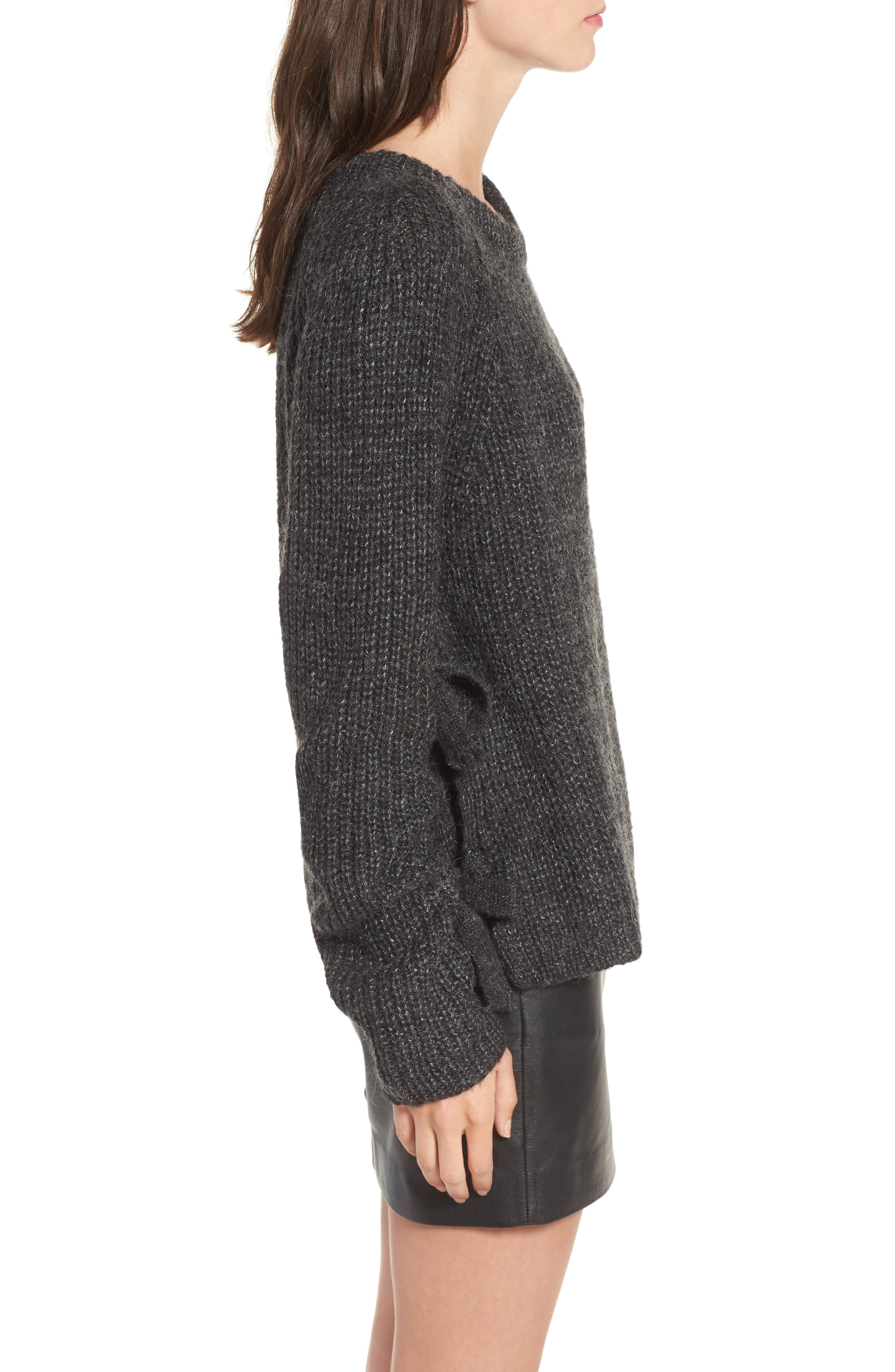 Lexie Side Tie Sweater,                             Alternate thumbnail 3, color,                             020