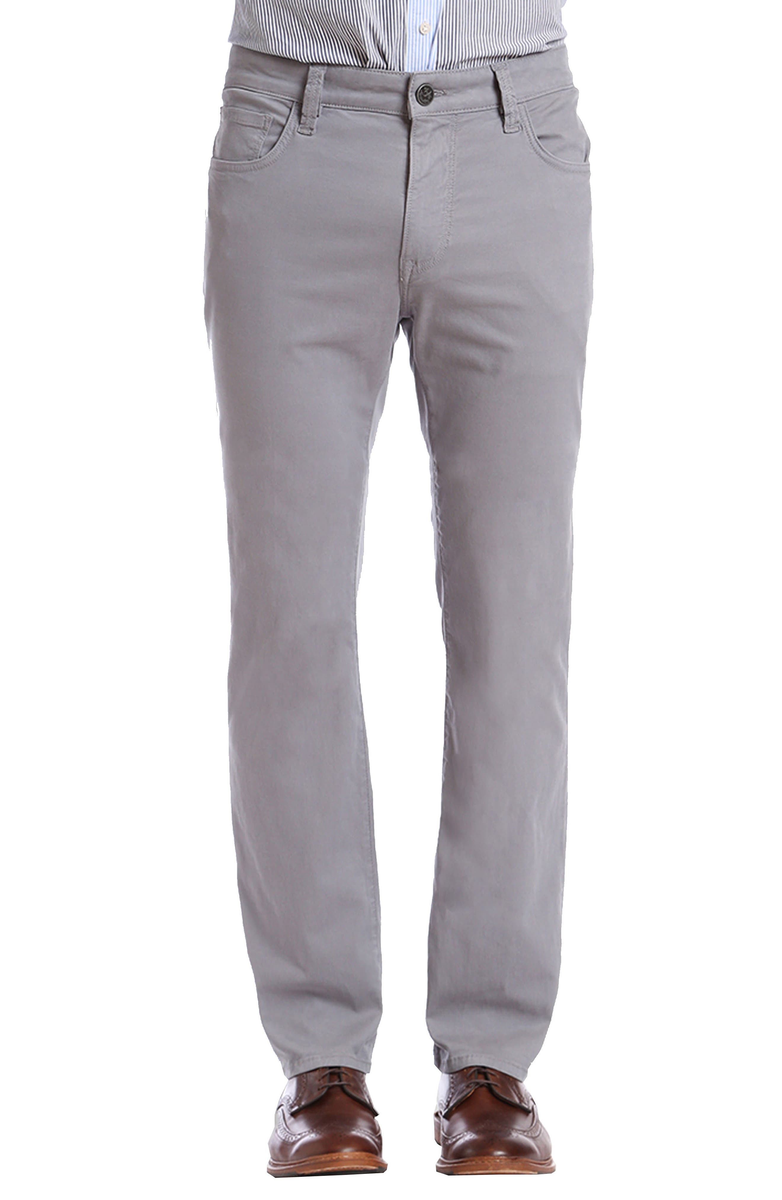 Courage Straight Leg Twill Pants,                         Main,                         color, GREY FINE TWILL