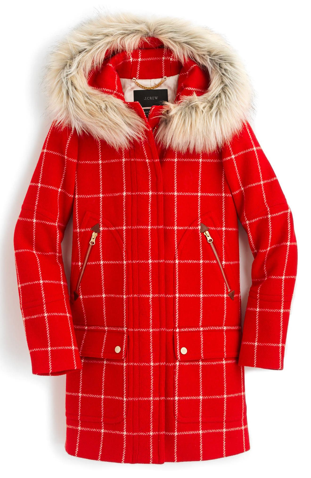 Windowpane Check Chateau Parka,                             Alternate thumbnail 4, color,                             600