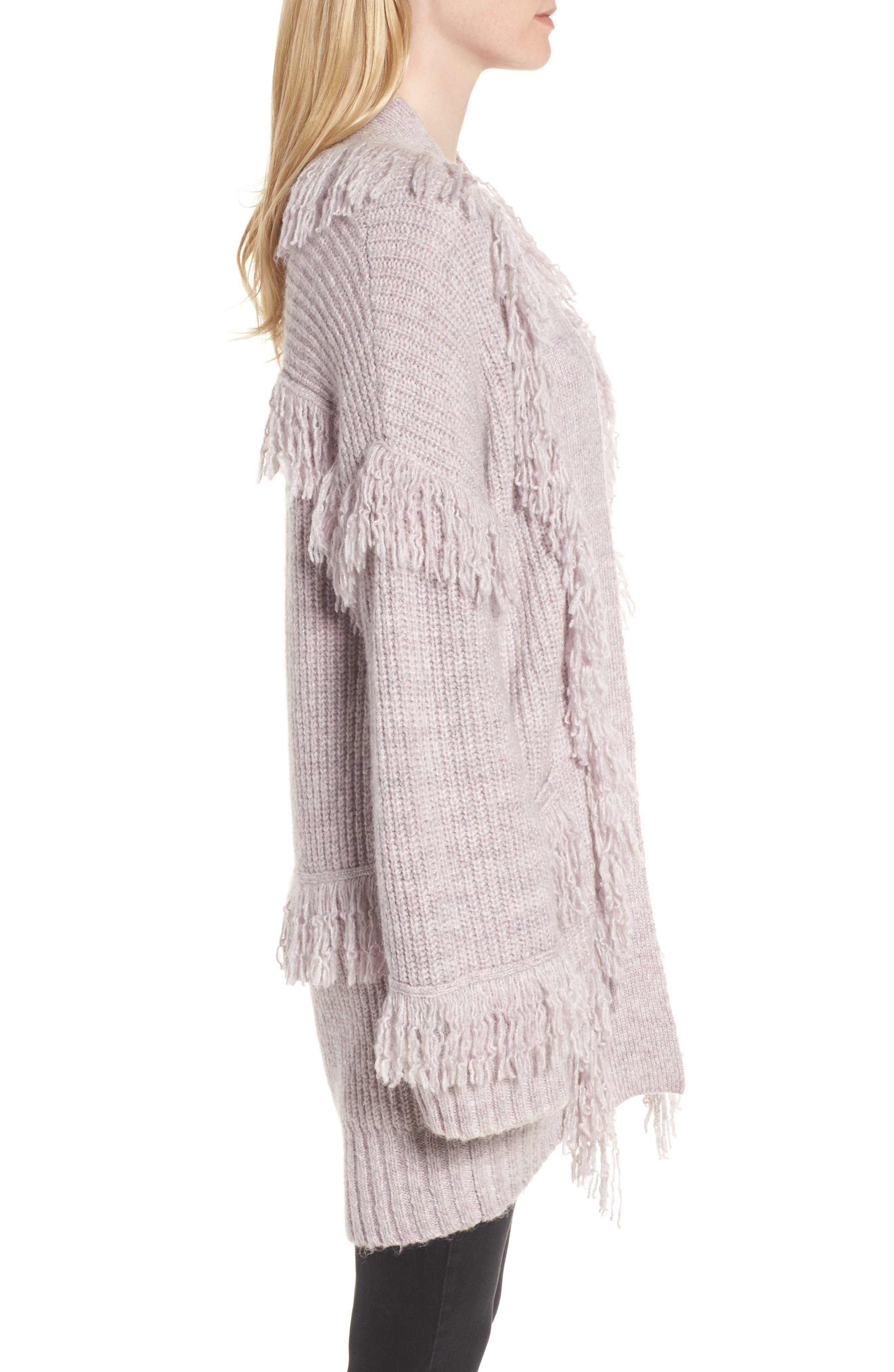 Berea Fringe Cardigan Sweater,                             Alternate thumbnail 3, color,                             684
