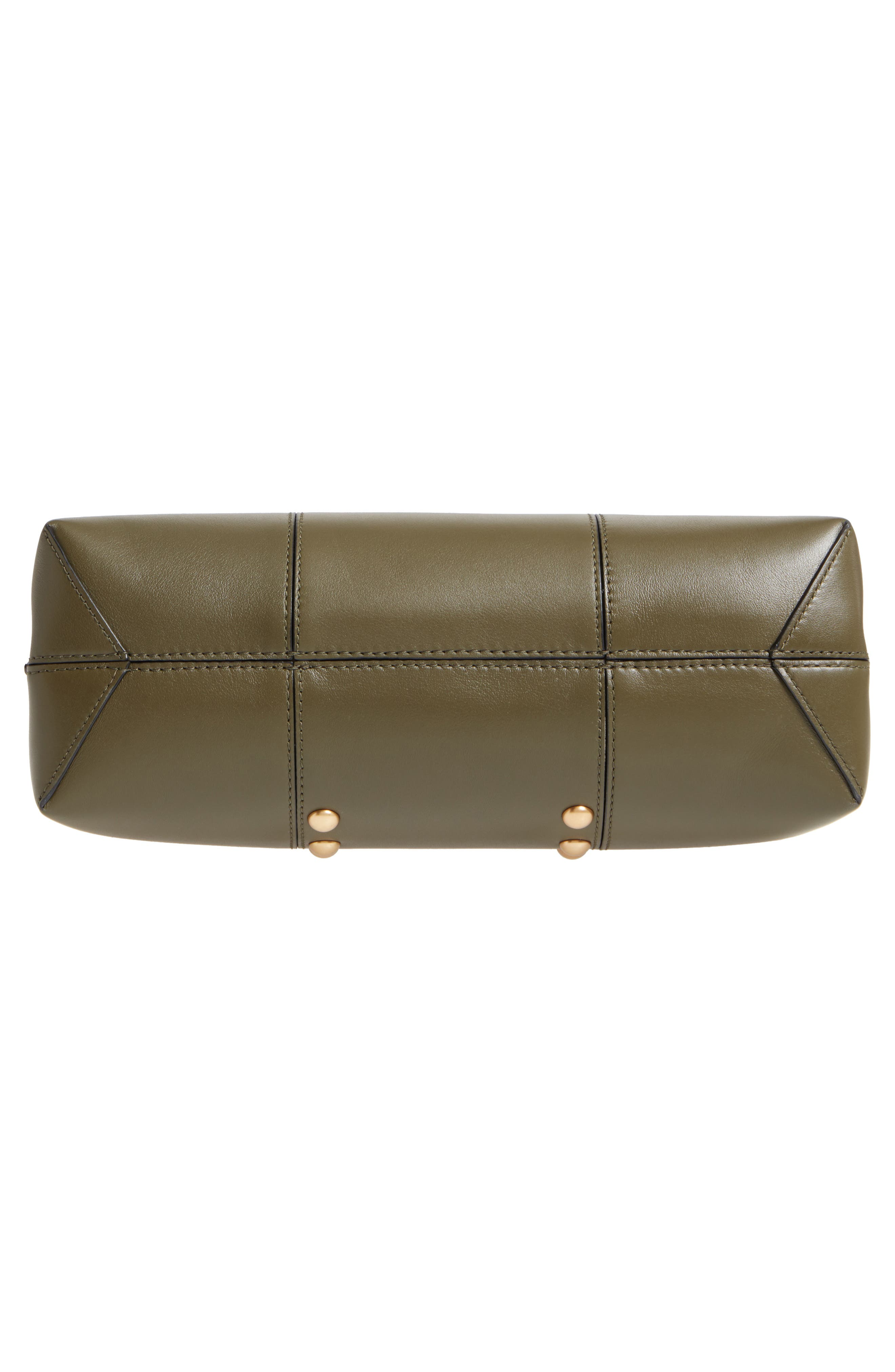 Block-T Studded Leather Top Handle Satchel,                             Alternate thumbnail 6, color,                             300