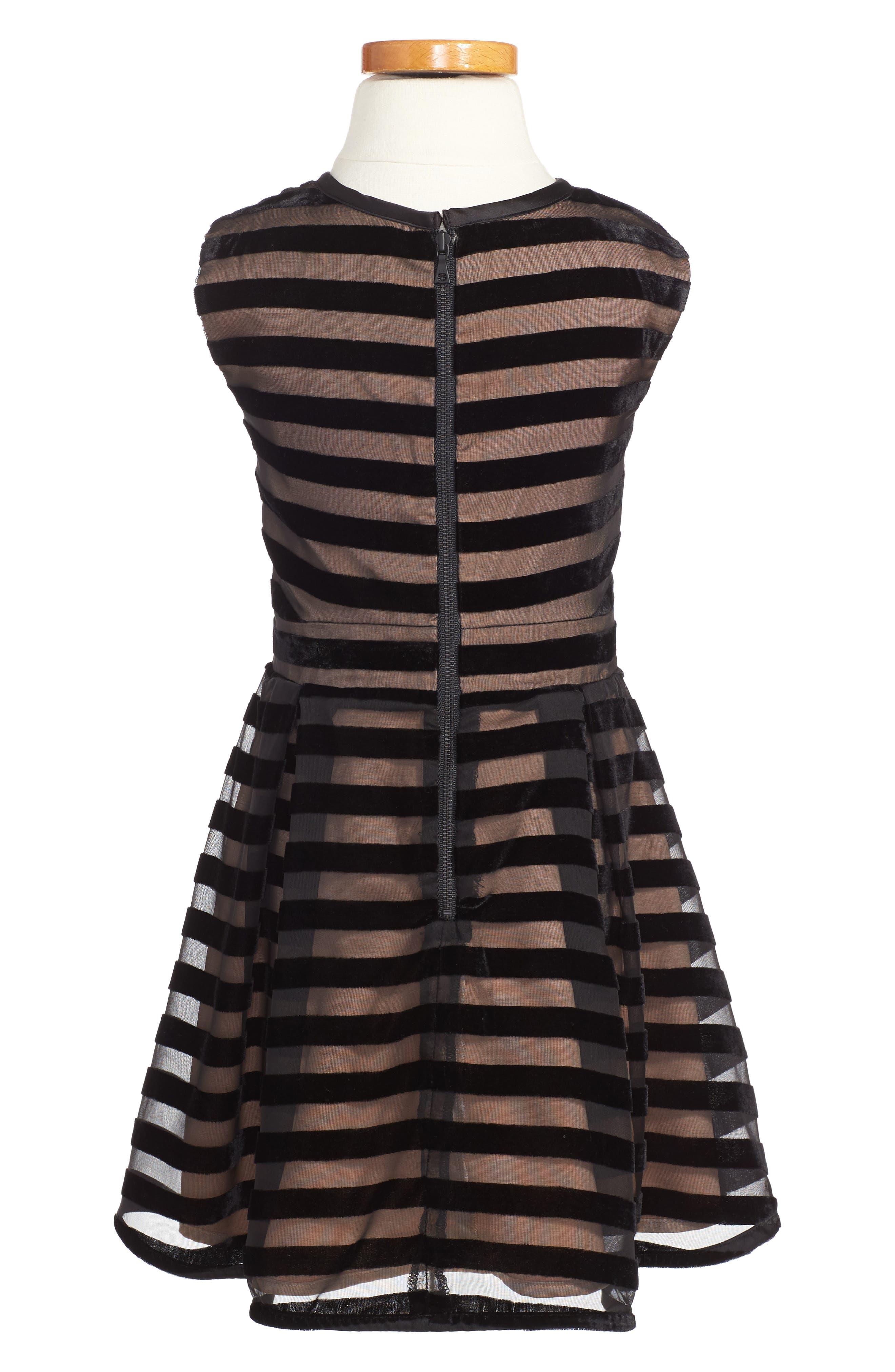 Linear Stripe Dress,                             Alternate thumbnail 2, color,                             001