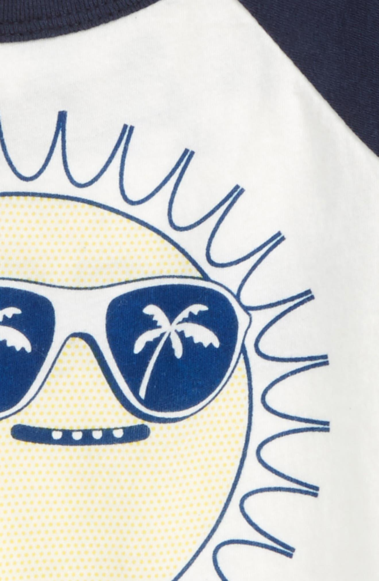 Sunny Baseball Raglan T-Shirt,                             Alternate thumbnail 3, color,                             902