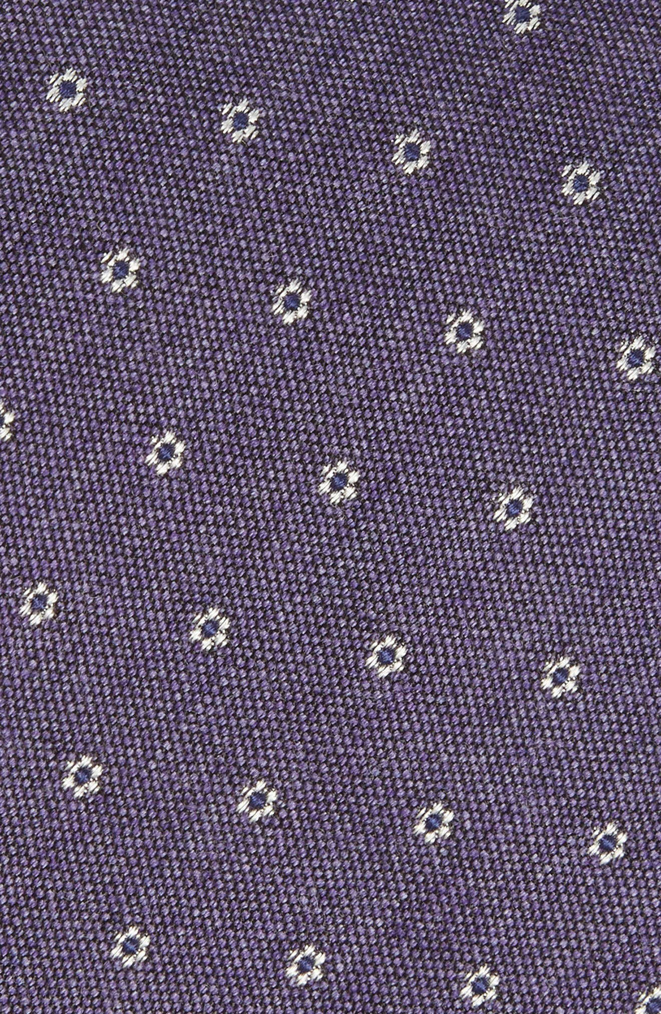 Heather Floral Silk & Wool Tie,                             Alternate thumbnail 10, color,