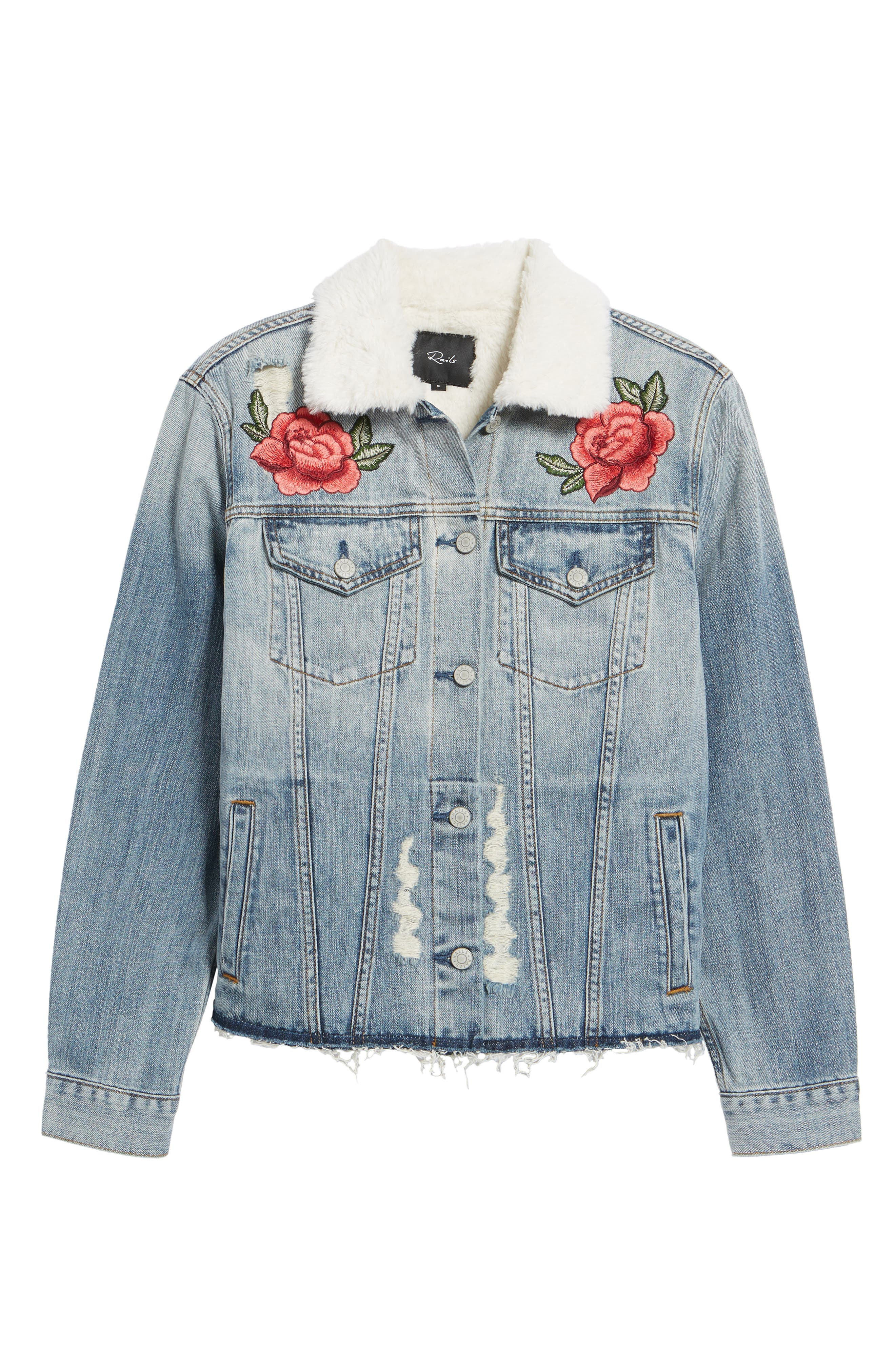 Ramsey Embroidered Denim Jacket,                             Alternate thumbnail 5, color,                             493