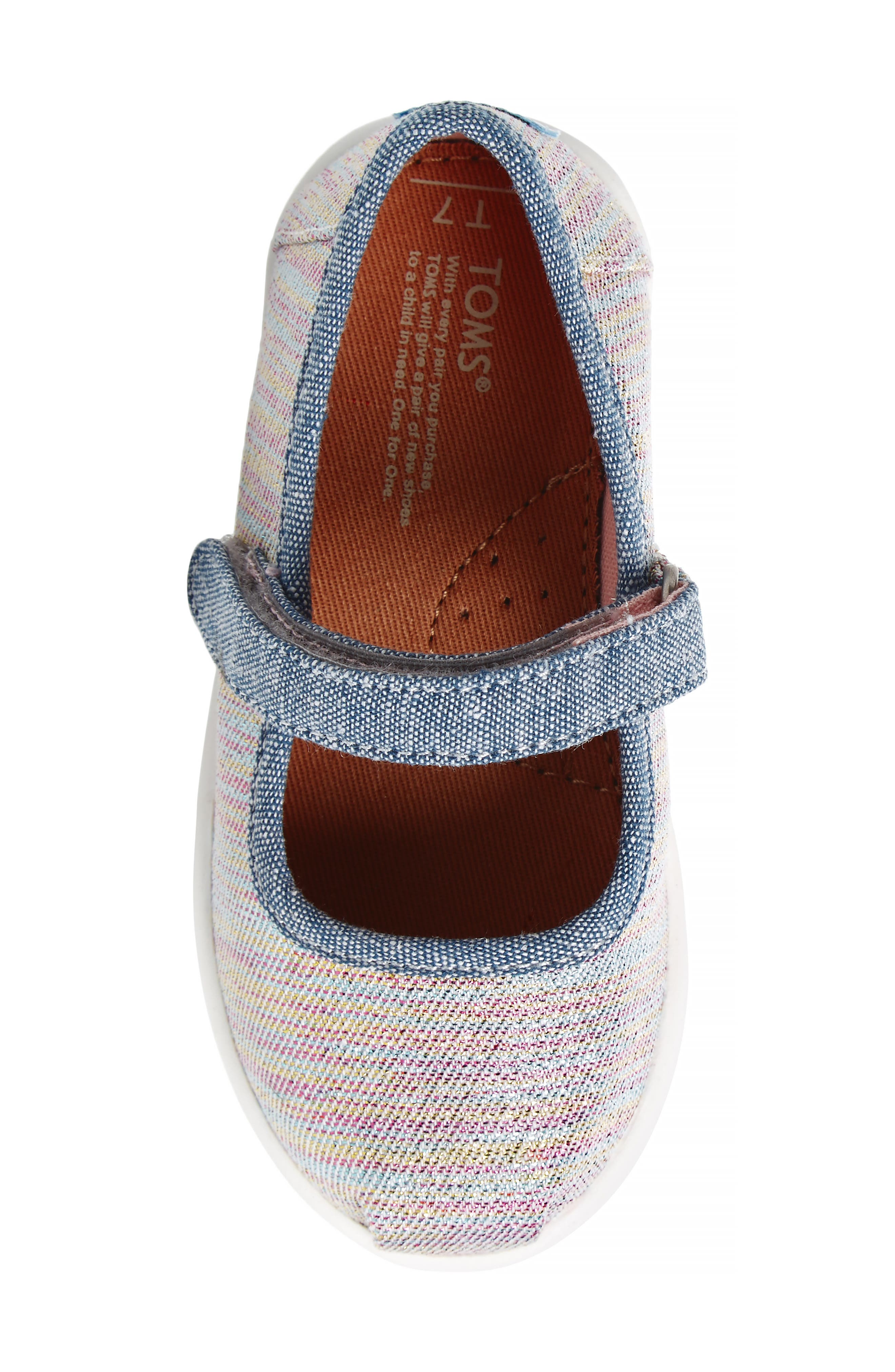 Mary Jane Sneaker,                             Alternate thumbnail 5, color,                             PINK MULTI TWILL GLIMMER