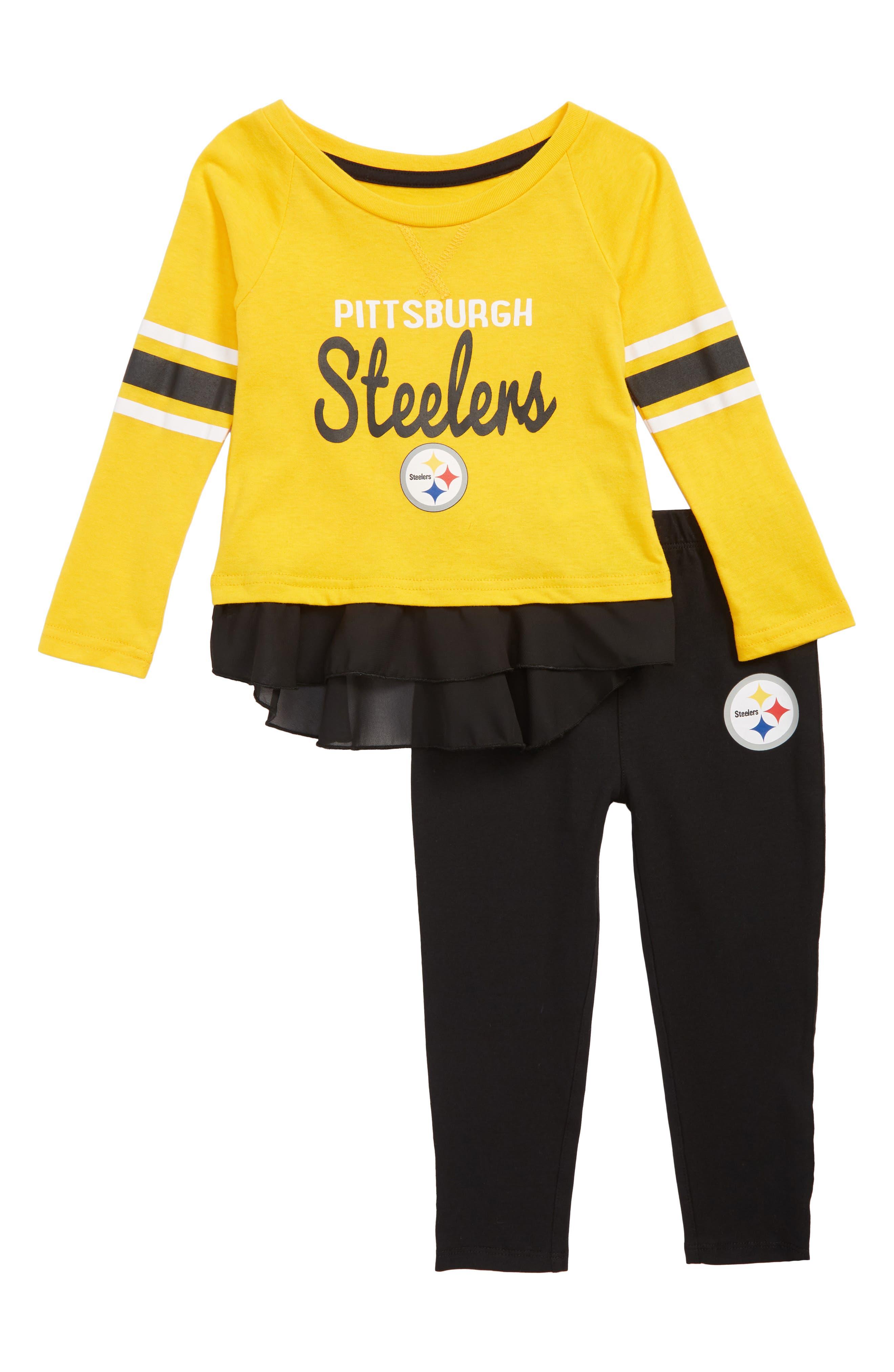 NFL Team Logo Top & Leggings Set,                             Main thumbnail 1, color,                             NEW GOLD