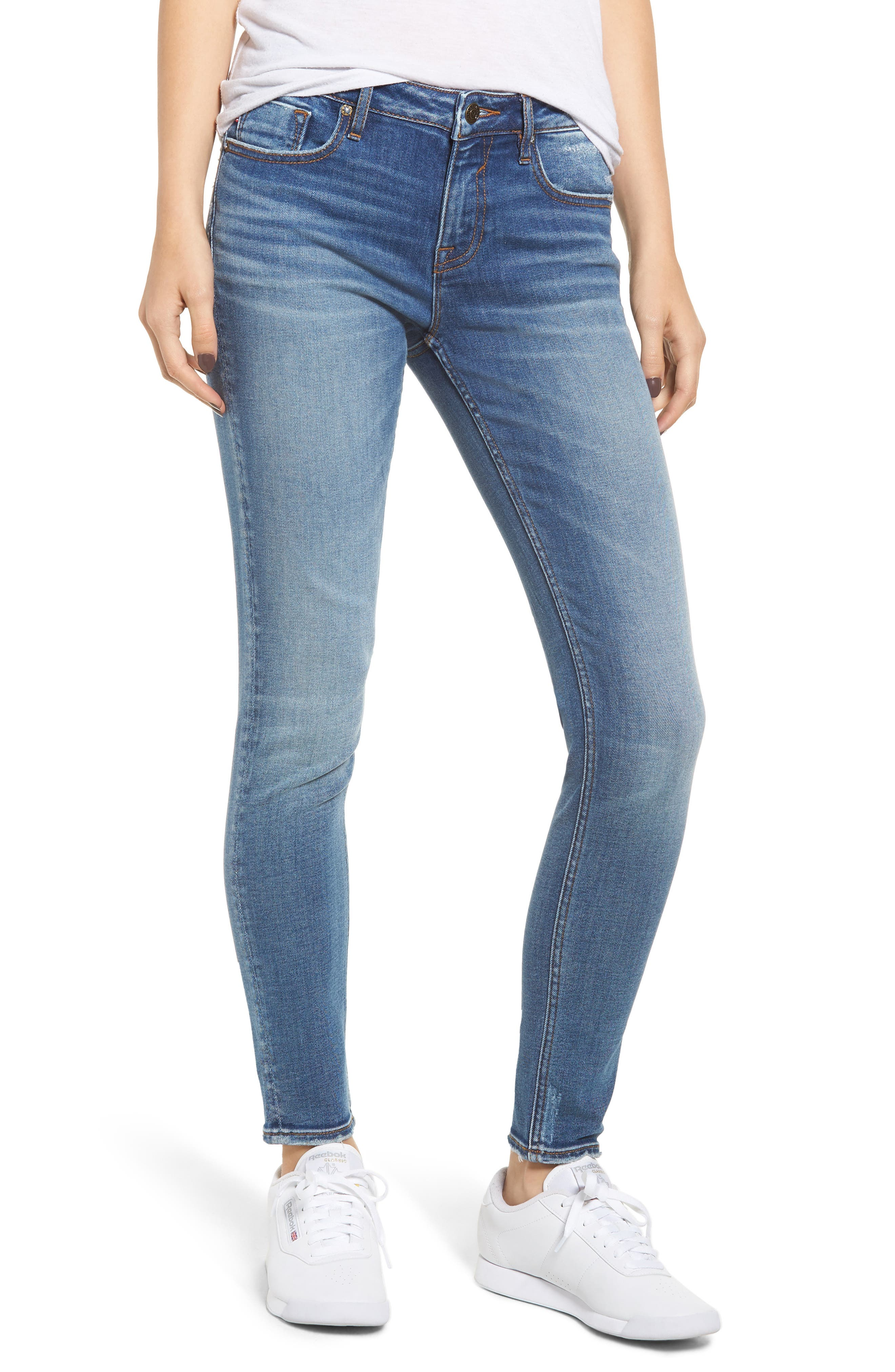 Jagger Skinny Jeans,                             Main thumbnail 1, color,                             VINTAGE BLUE