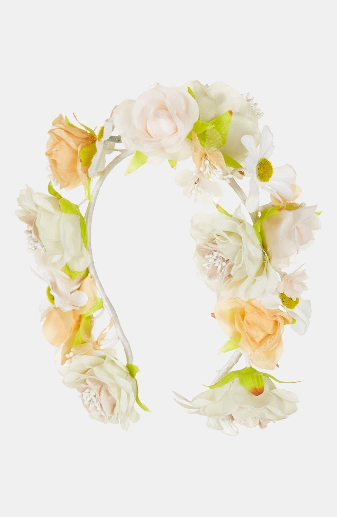 Floral Headband,                             Main thumbnail 1, color,                             100