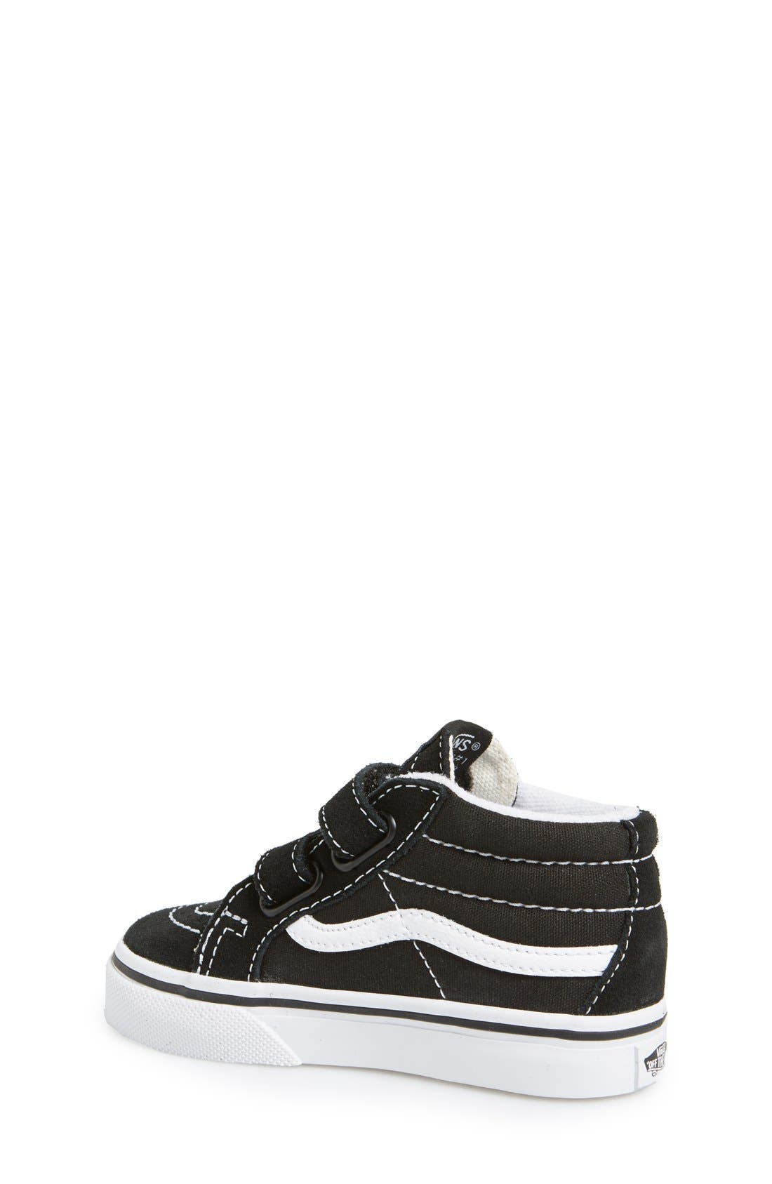 'Sk8-Mid Reissue' Sneaker,                             Alternate thumbnail 4, color,                             BLACK/ TRUE WHITE
