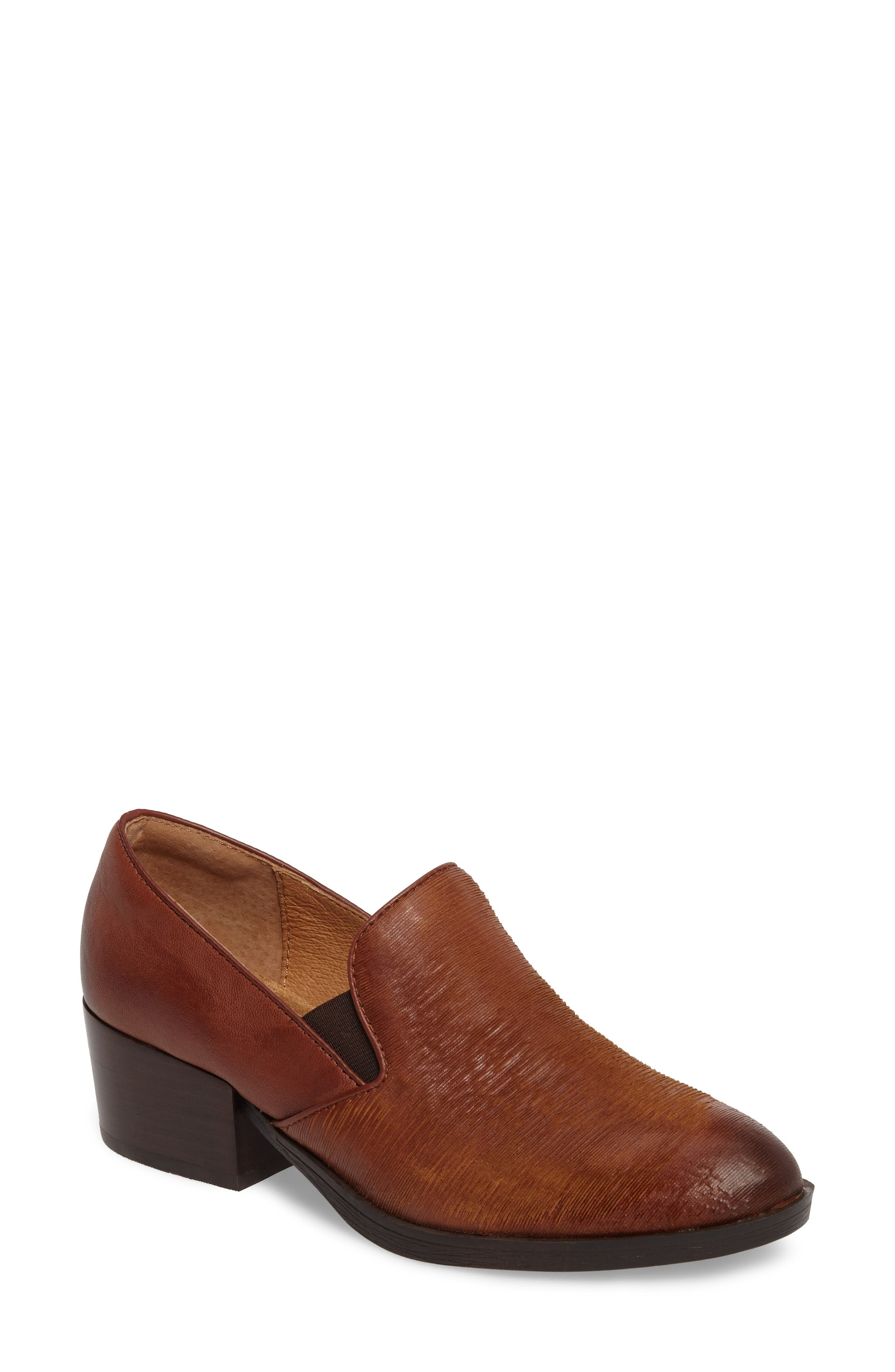 Velina Pump,                             Main thumbnail 1, color,                             WHISKEY/ CAFFE LEATHER