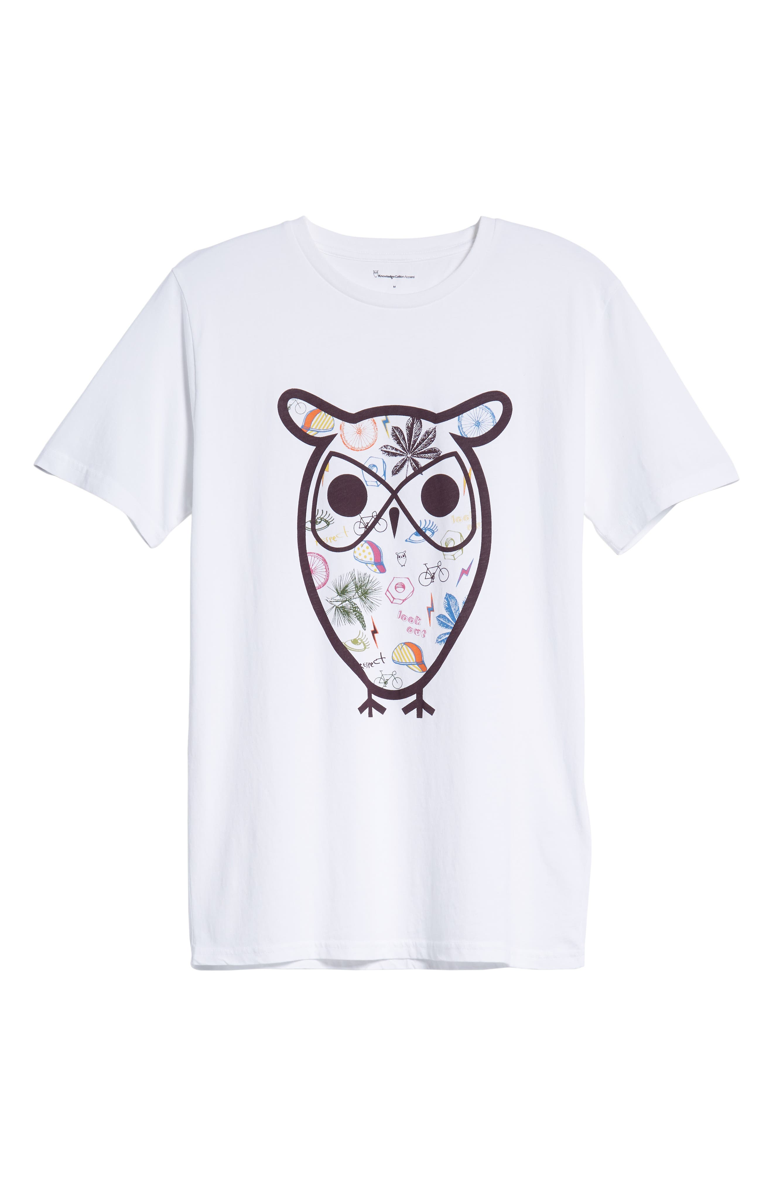 Owl Concept T-Shirt,                             Alternate thumbnail 6, color,                             WHITE
