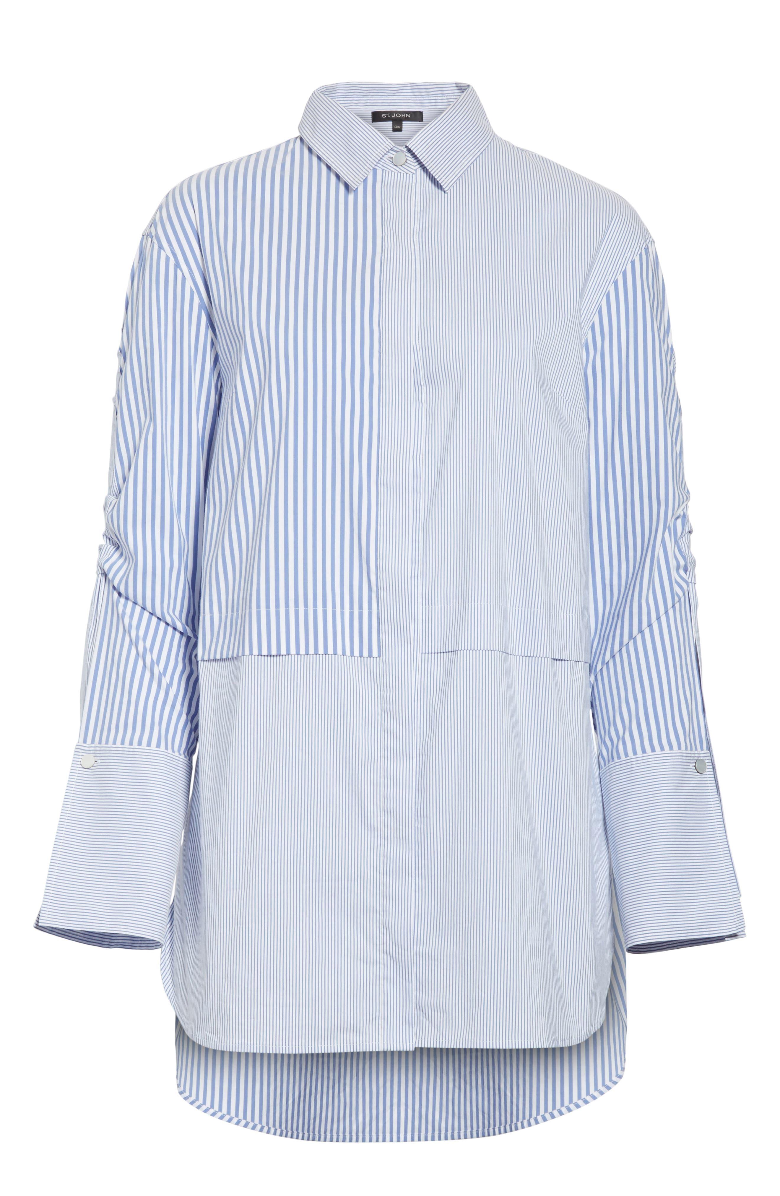 Striped Shirting Tunic,                             Alternate thumbnail 7, color,