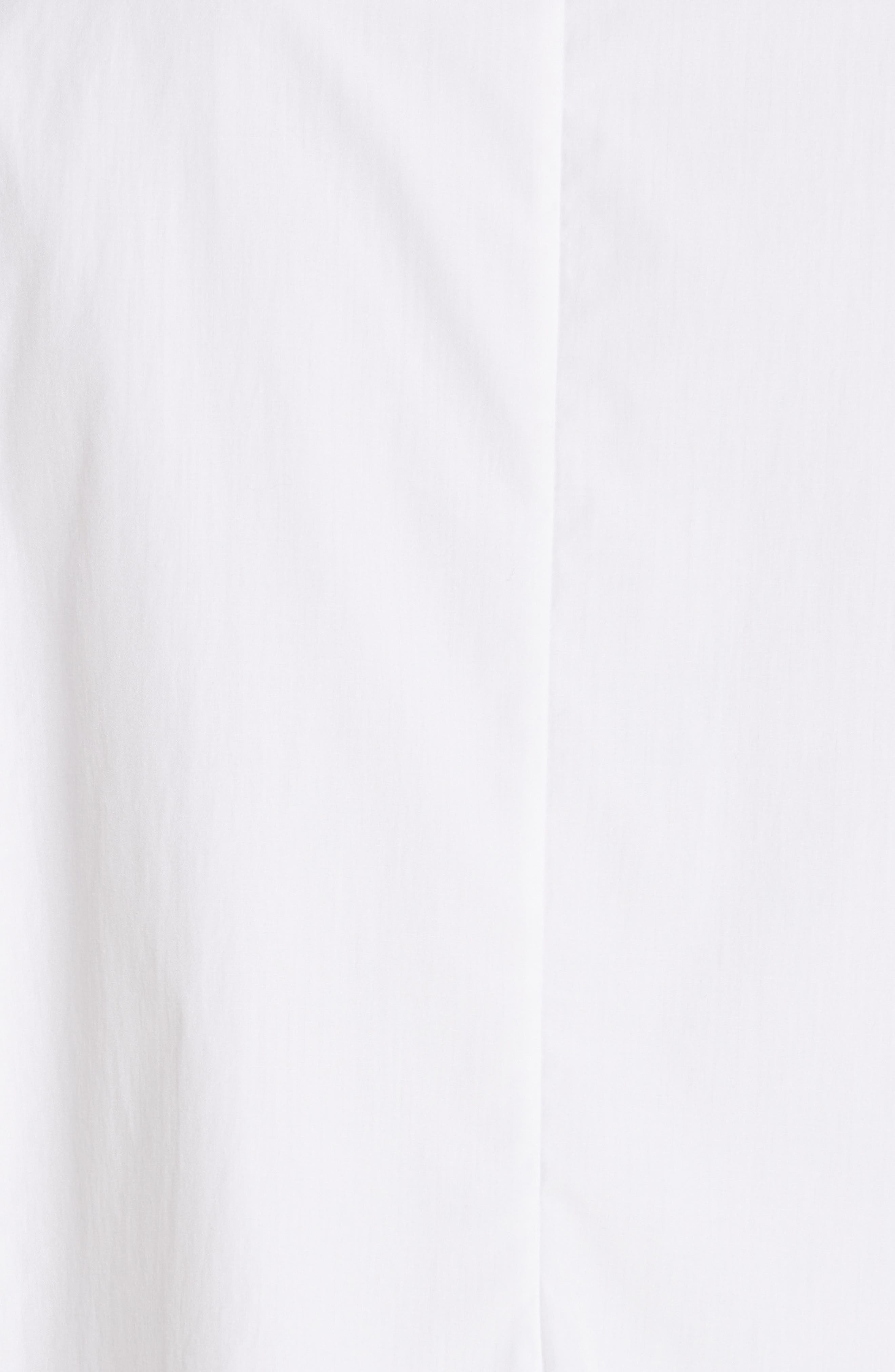 Brushed Cotton Top,                             Alternate thumbnail 5, color,                             WHITE