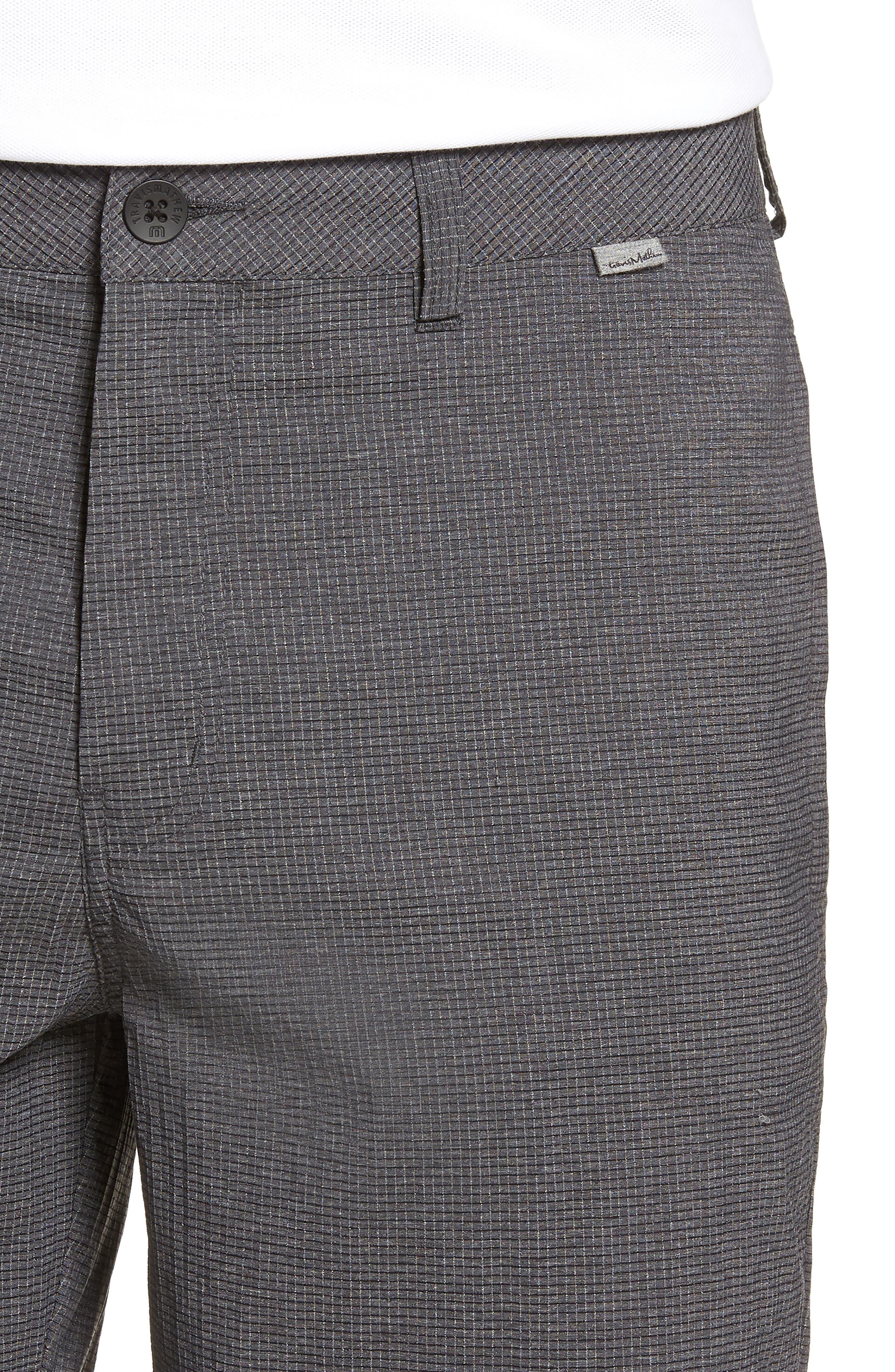 Peel Out Shorts,                             Alternate thumbnail 4, color,                             GREY PINSTRIPE