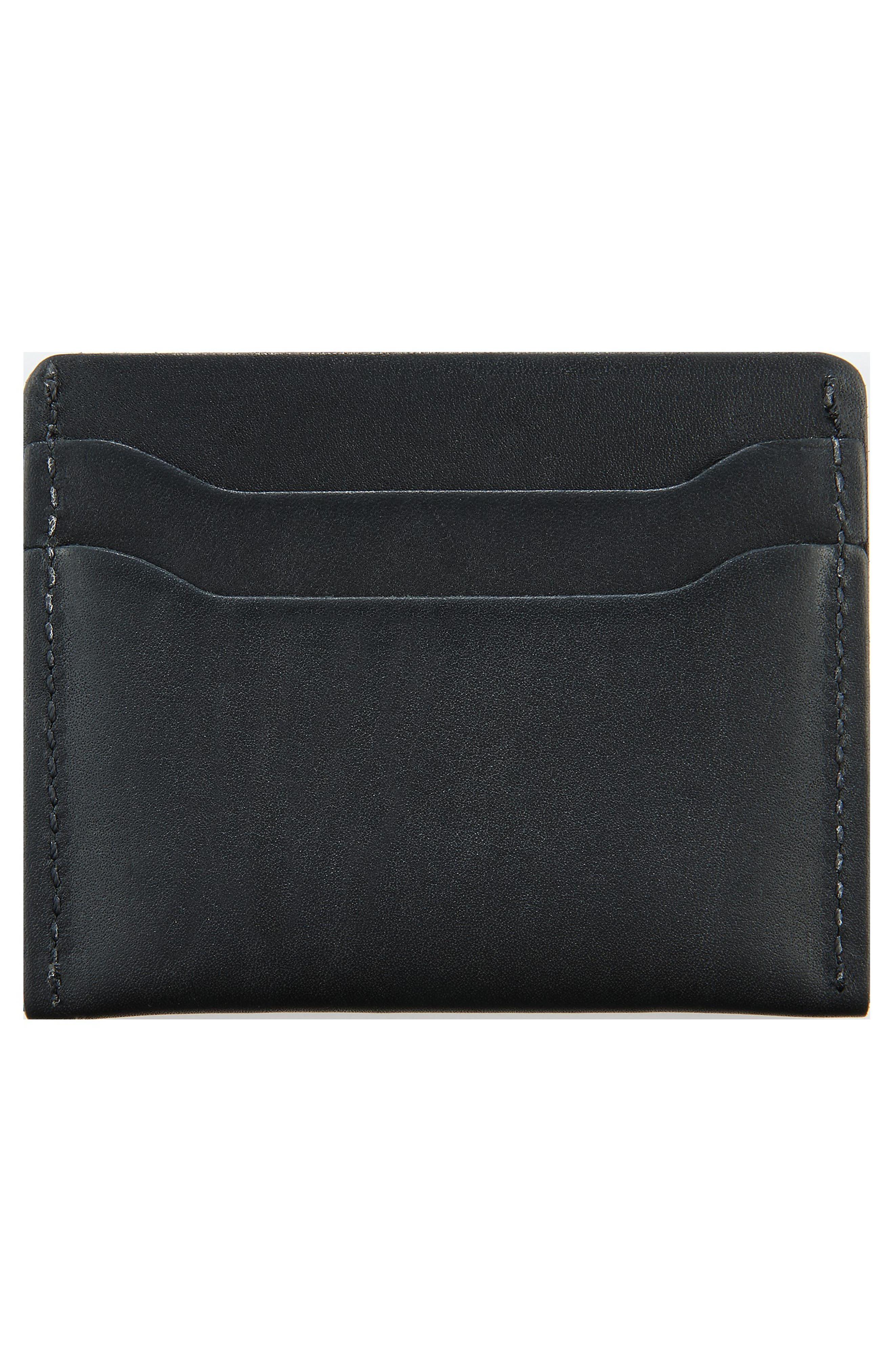 Leather Card Case,                             Alternate thumbnail 2, color,                             BLACK FRONTIER