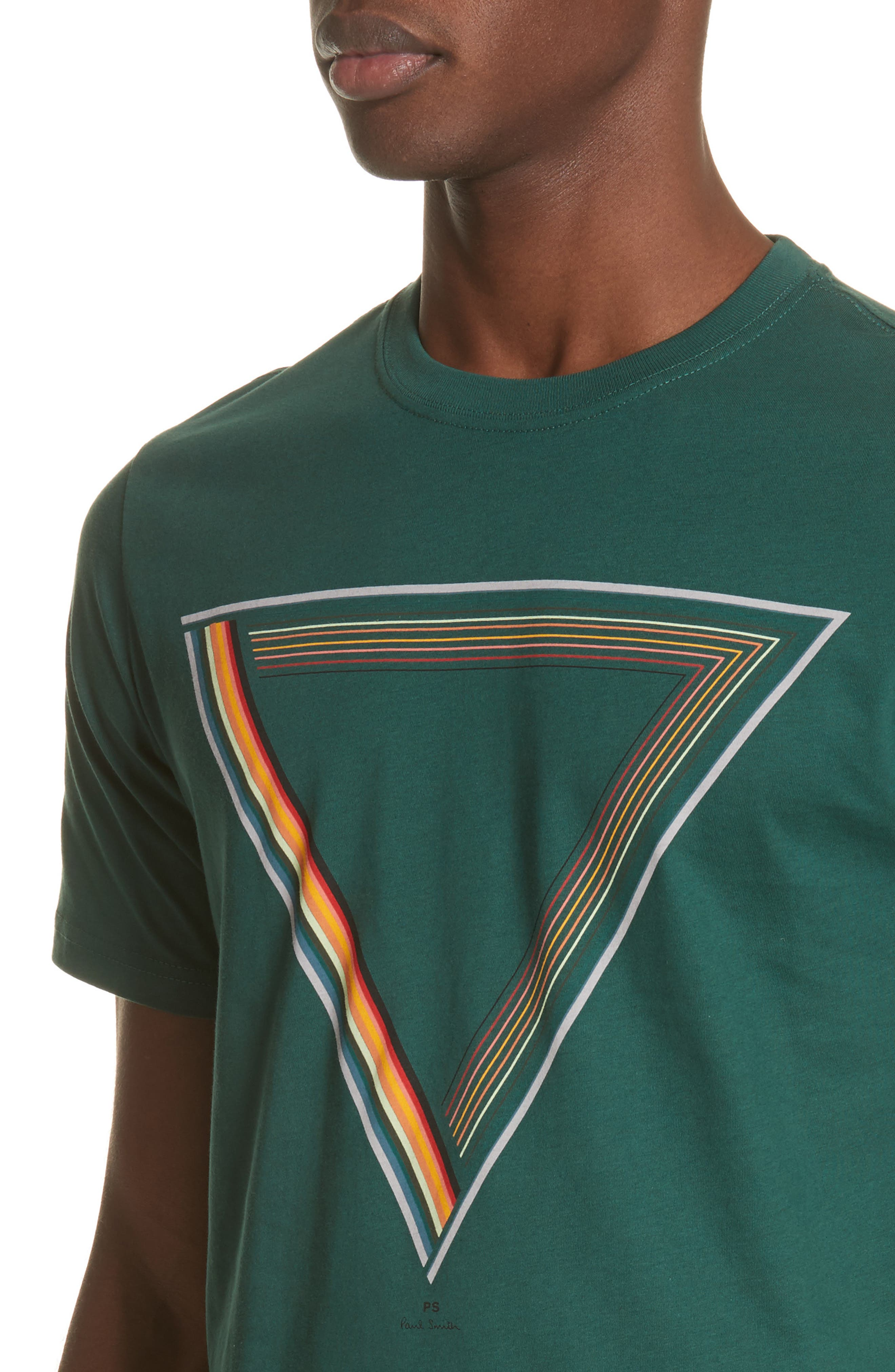 Triangle Graphic T-Shirt,                             Alternate thumbnail 4, color,